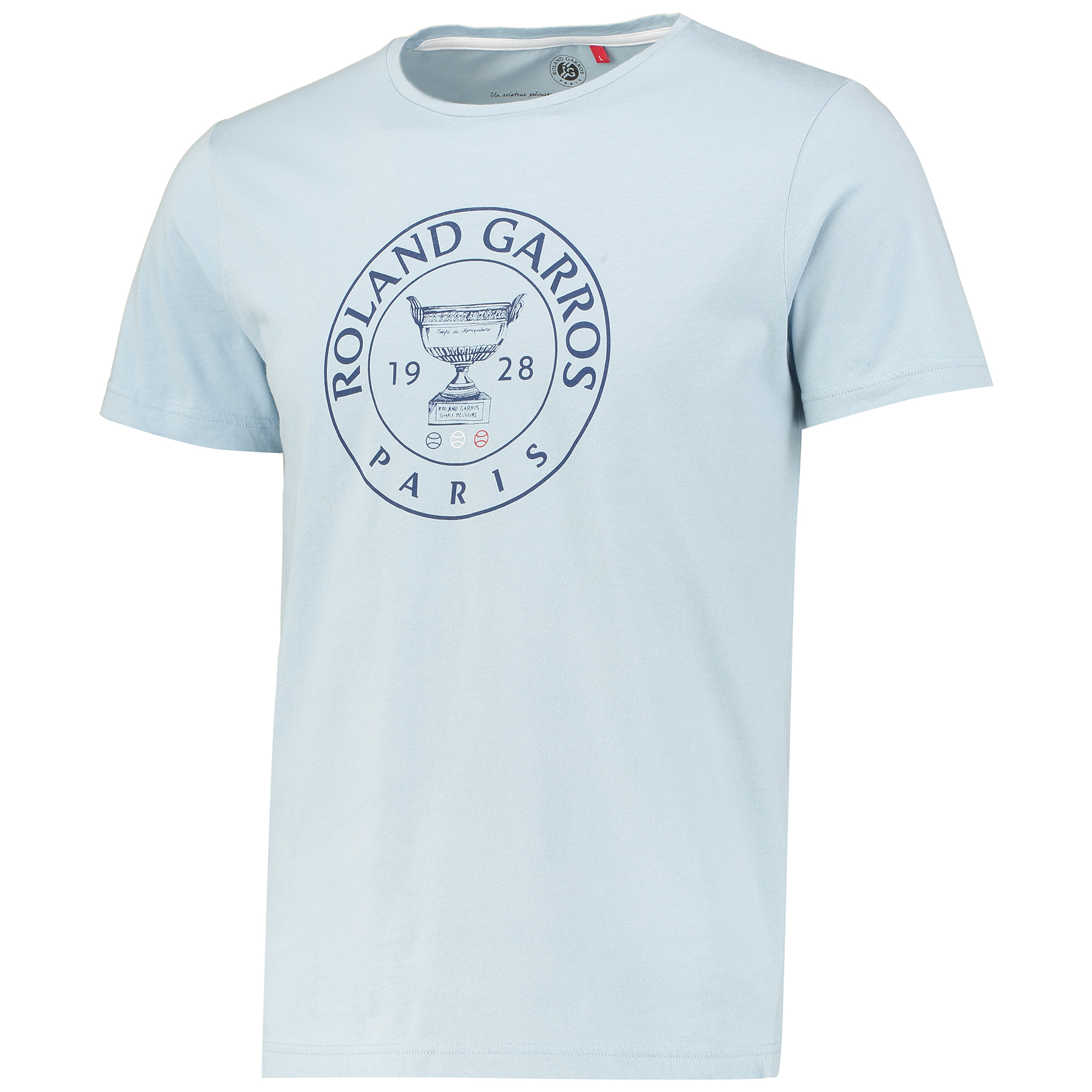 Roland-Garros Sportychic Collection Trophy T-shirt - Mens - Blue Grey