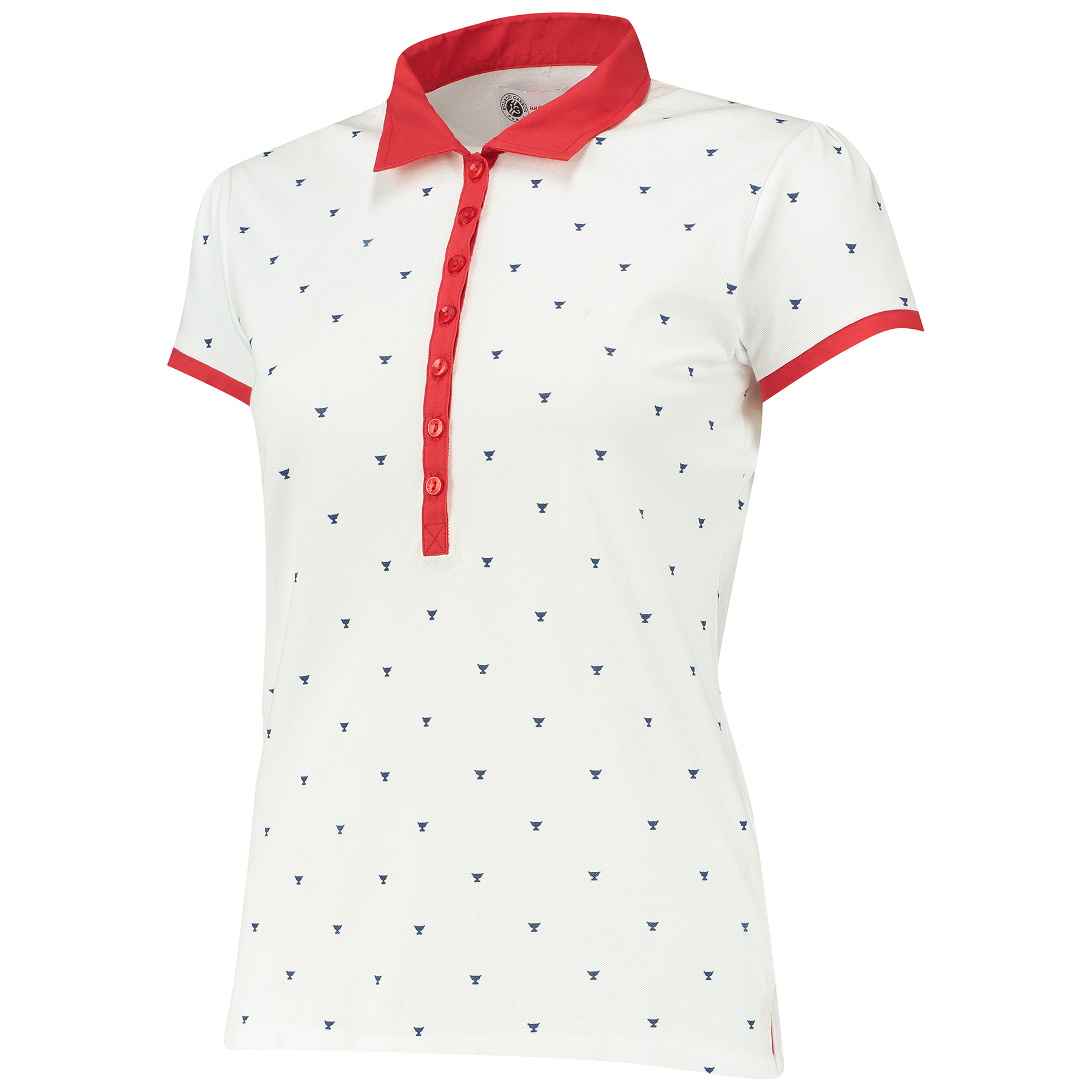 Roland-Garros DNA Collection Polo - Womens - White/Navy/Red