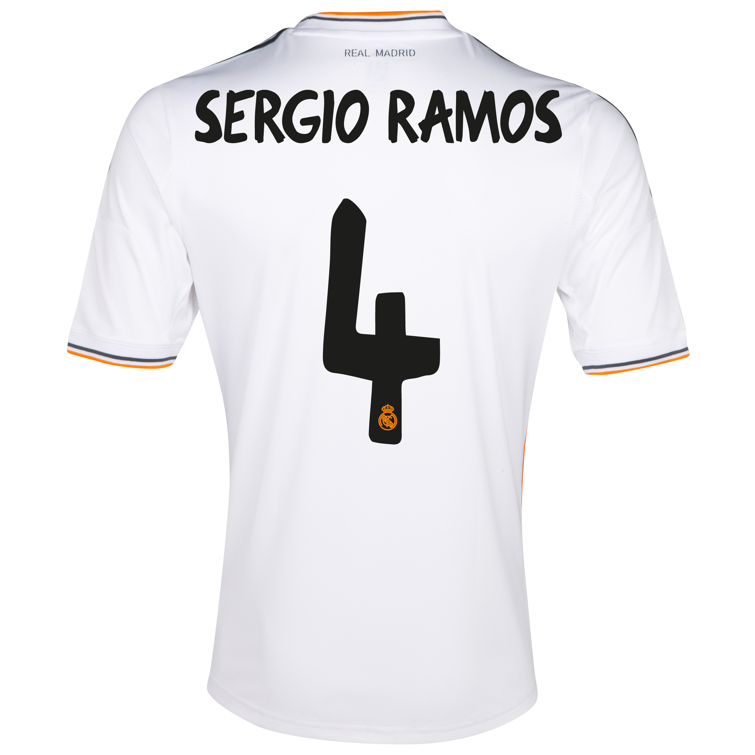 Real Madrid Home Shirt 2013/14 with Sergio Ramos 4 printing