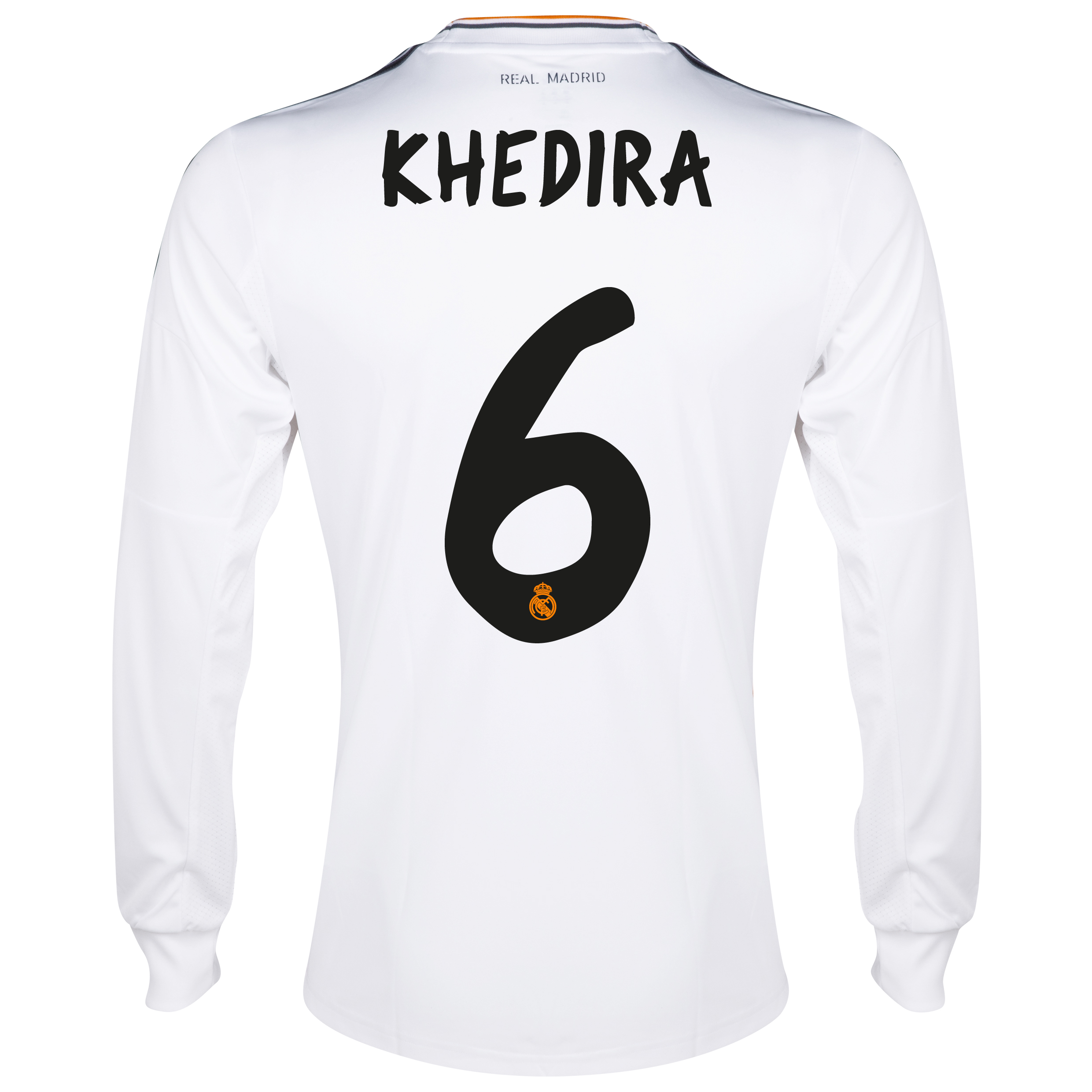 Real Madrid Home Shirt 2013/14 - Long Sleeve with Khedira 6 printing