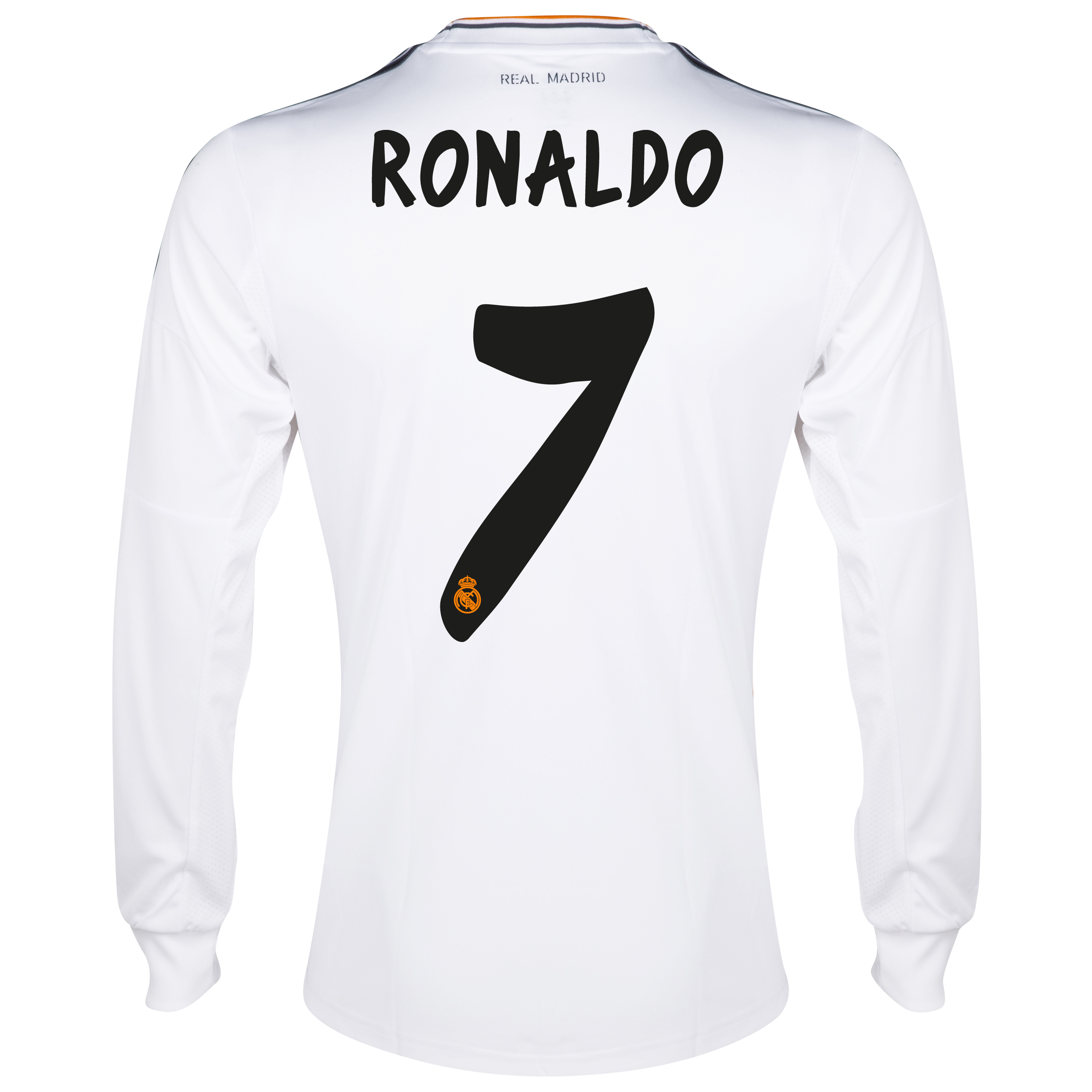 Real Madrid Home Shirt 2013/14 - Long Sleeve with Ronaldo 7 printing
