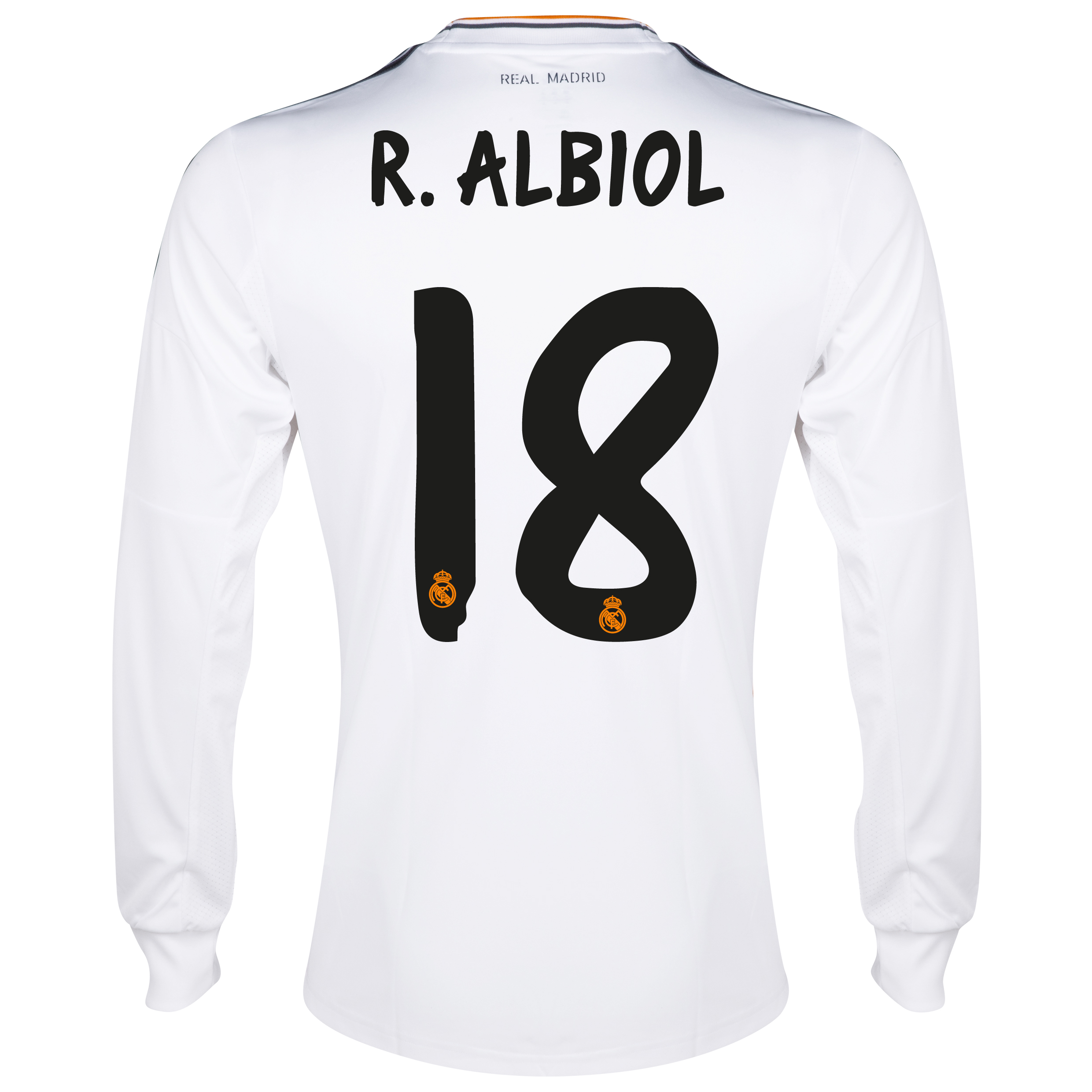 Real Madrid Home Shirt 2013/14 - Long Sleeve with Albiol 18 printing