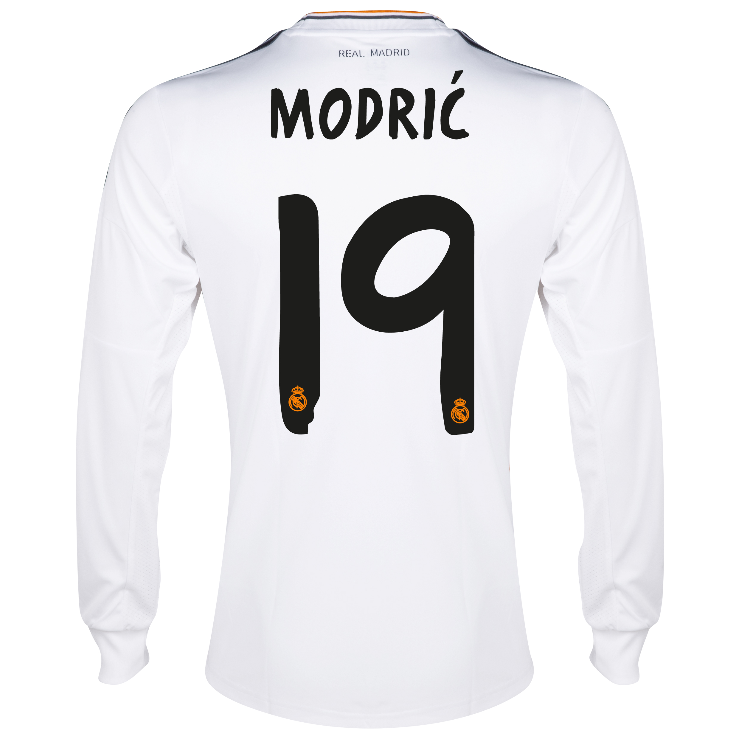 Real Madrid Home Shirt 2013/14 - Long Sleeve with Modric 19 printing