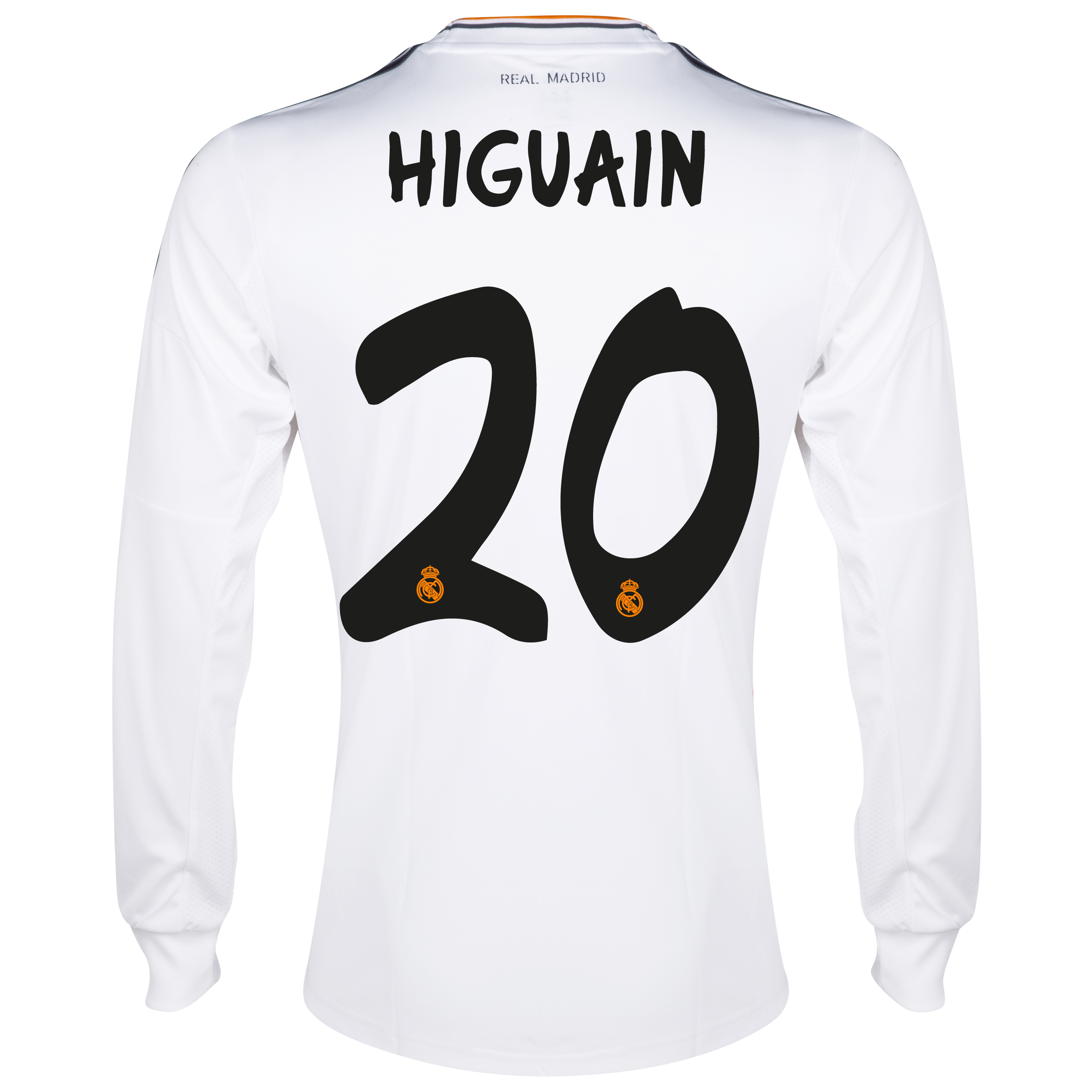 Real Madrid Home Shirt 2013/14 - Long Sleeve with Higuaín 20 printing