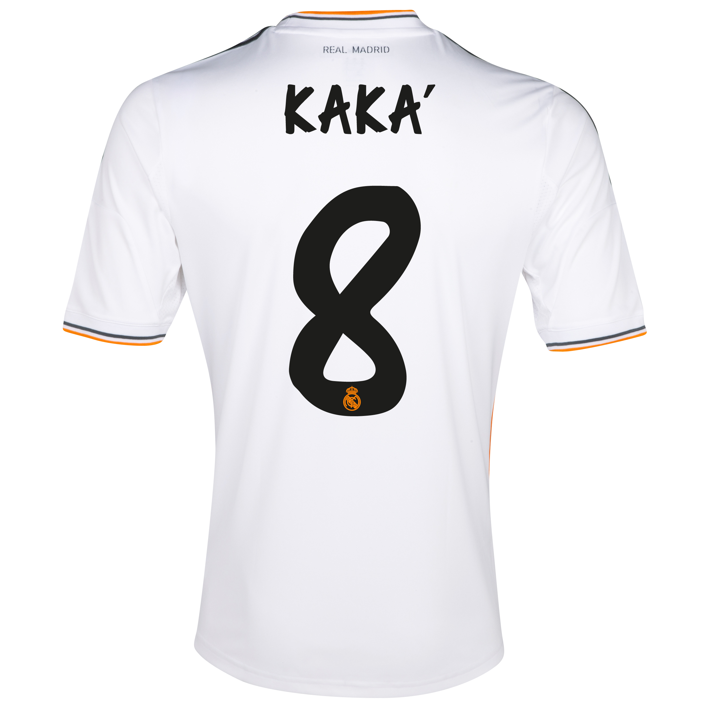 Real Madrid Home Shirt 2013/14 - Kids with Kaká 8 printing