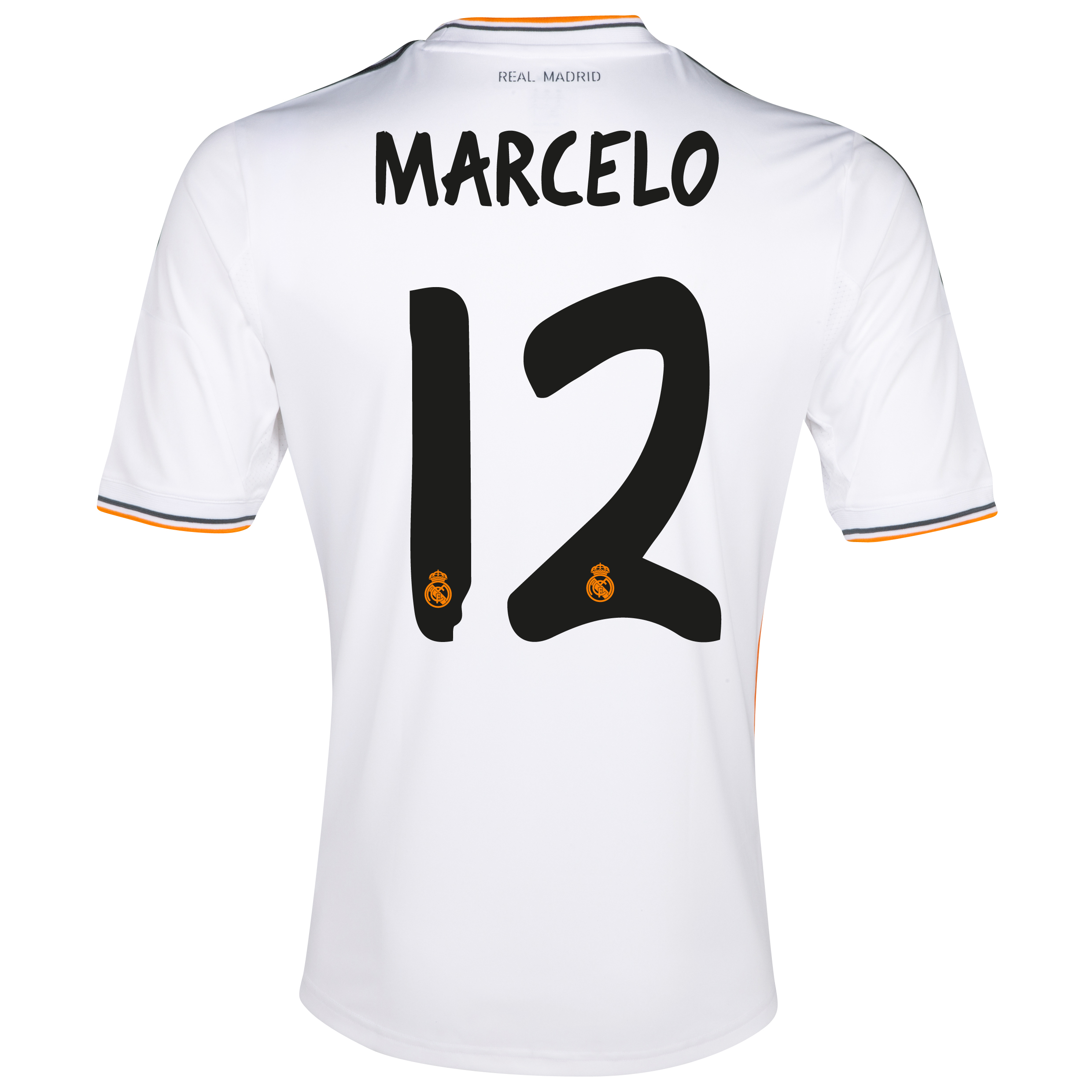 Real Madrid Home Shirt 2013/14 - Kids with Marcelo 12 printing
