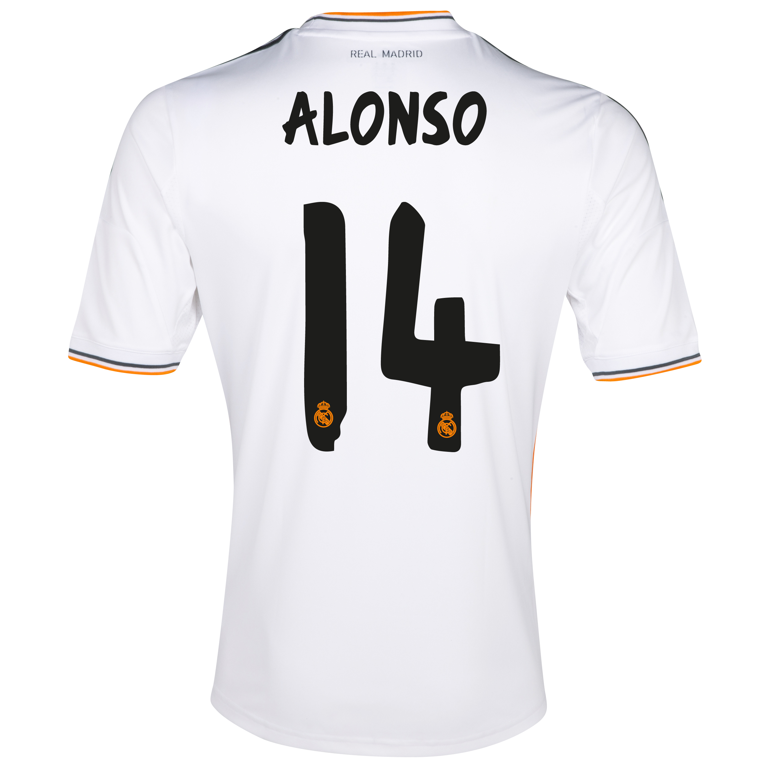 Real Madrid Home Shirt 2013/14 - Kids with Alonso 14 printing