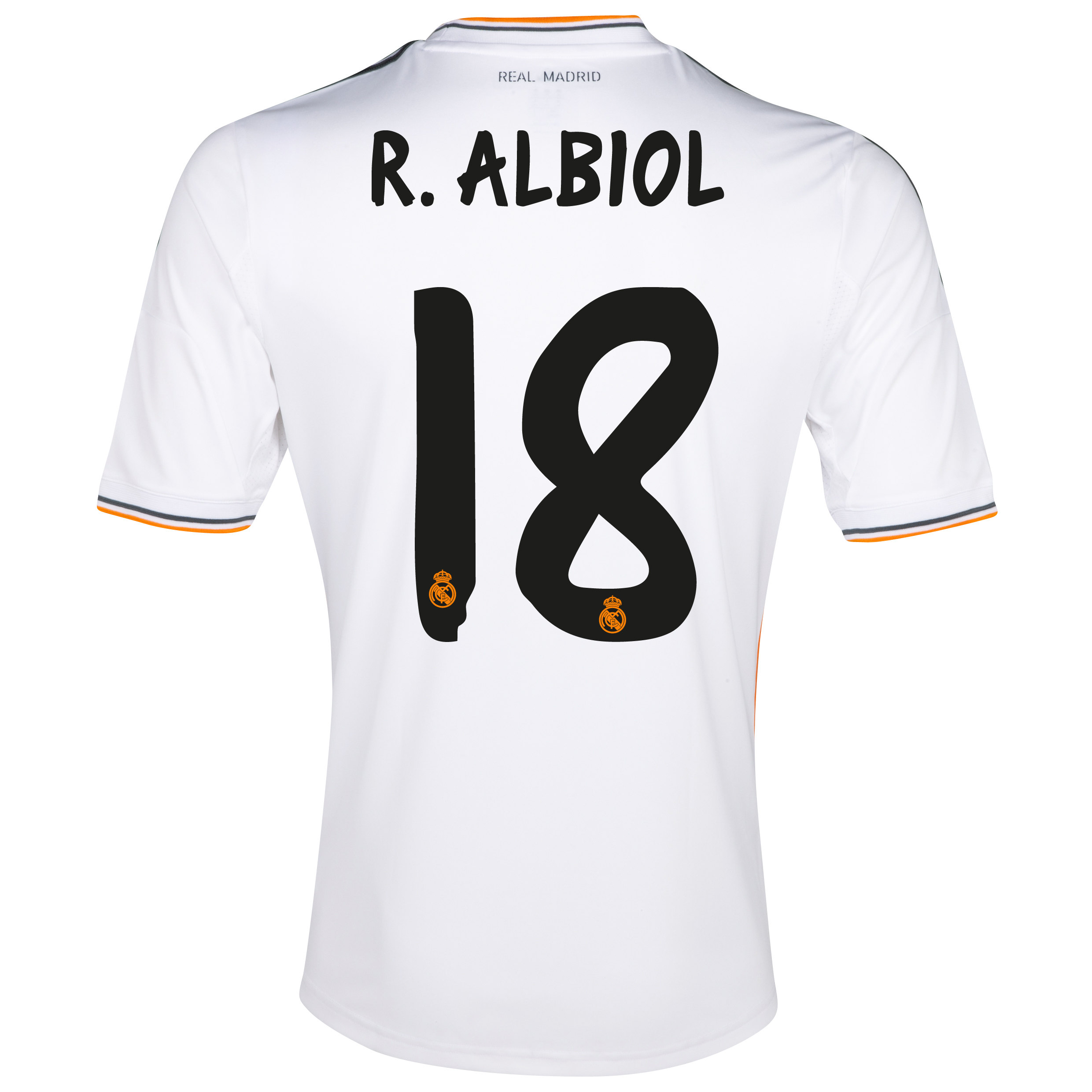 Real Madrid Home Shirt 2013/14 - Kids with Albiol 18 printing