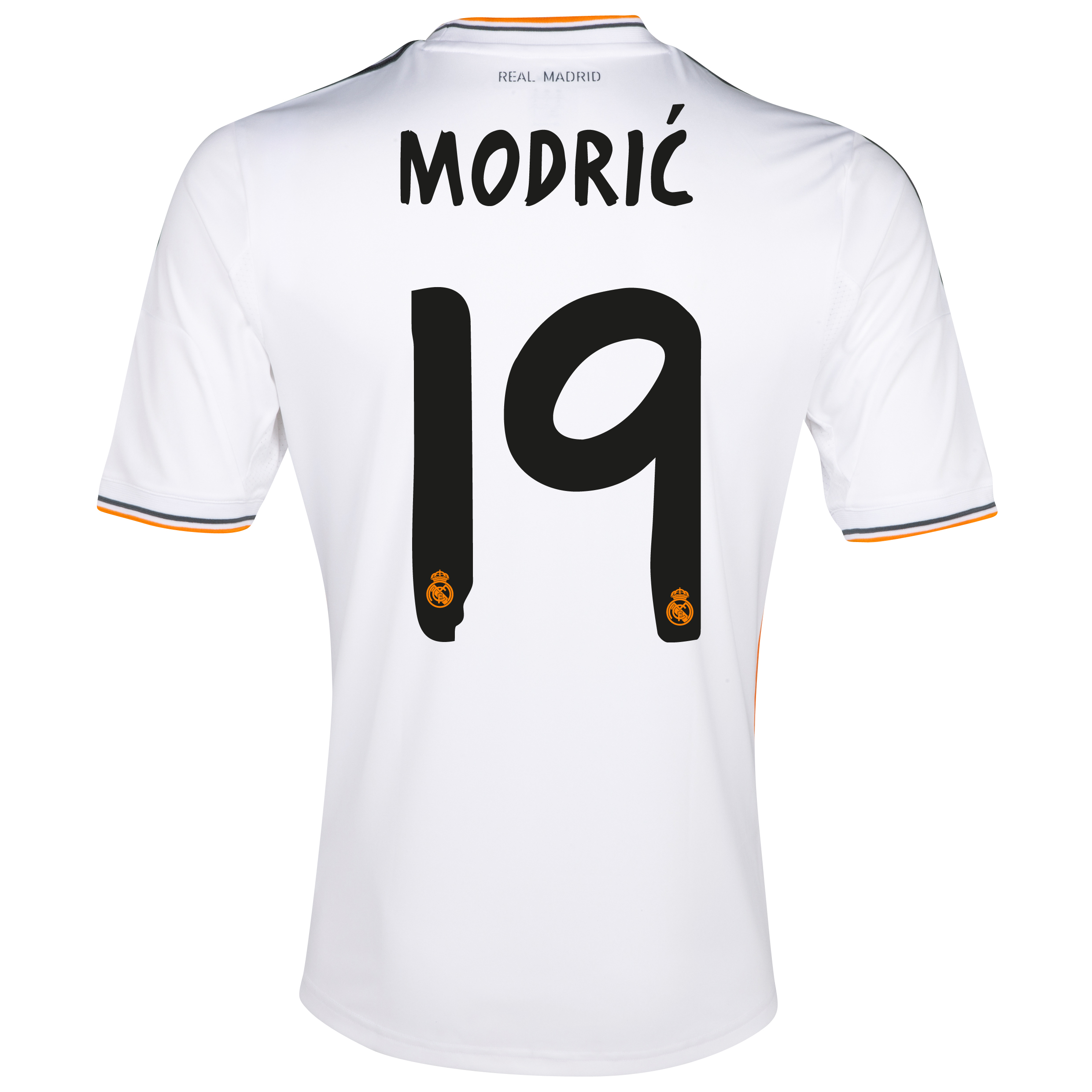 Real Madrid Home Shirt 2013/14 - Kids with Modric 19 printing