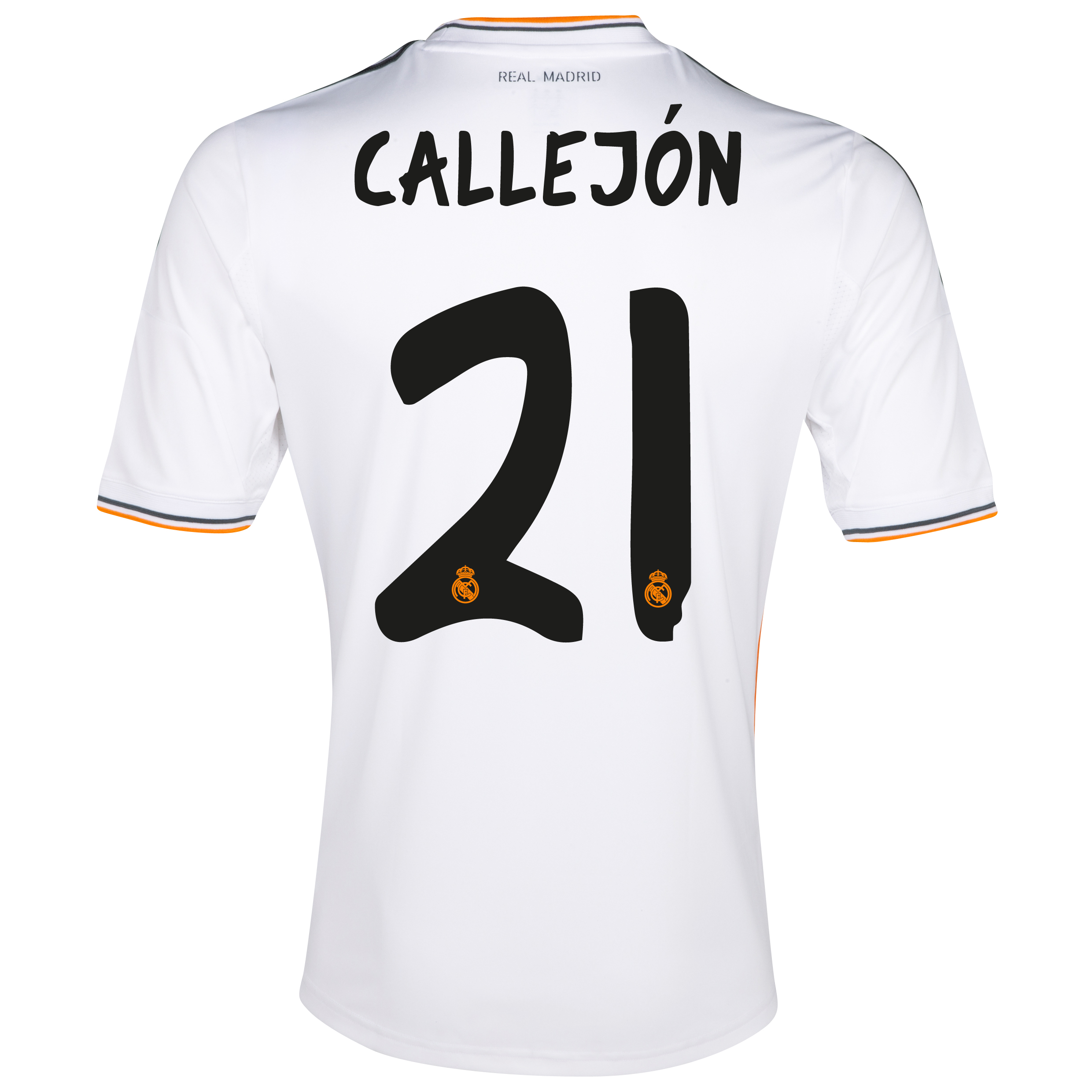 Real Madrid Home Shirt 2013/14 - Kids with Callejón 21 printing