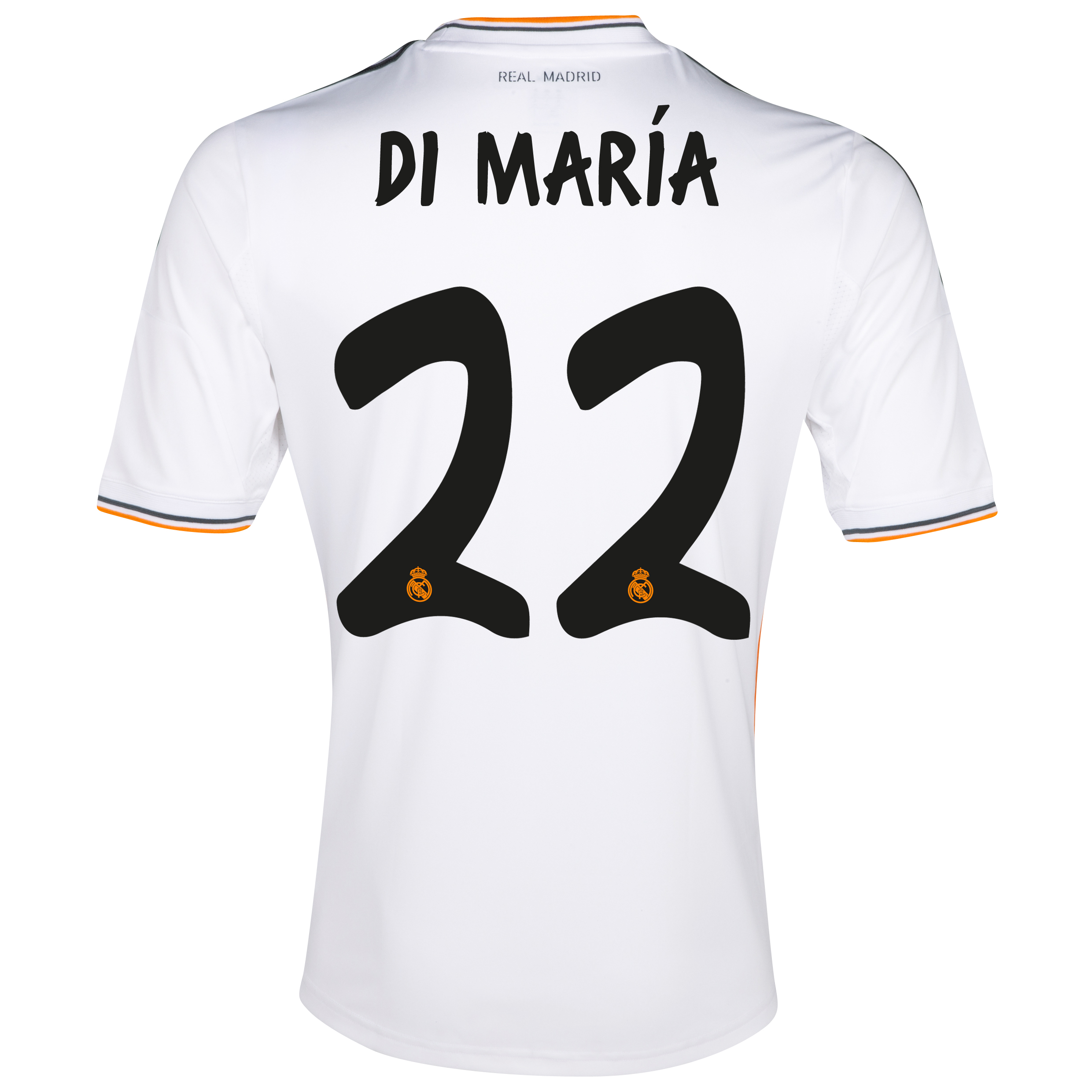 Real Madrid Home Shirt 2013/14 - Kids with Di María 22 printing
