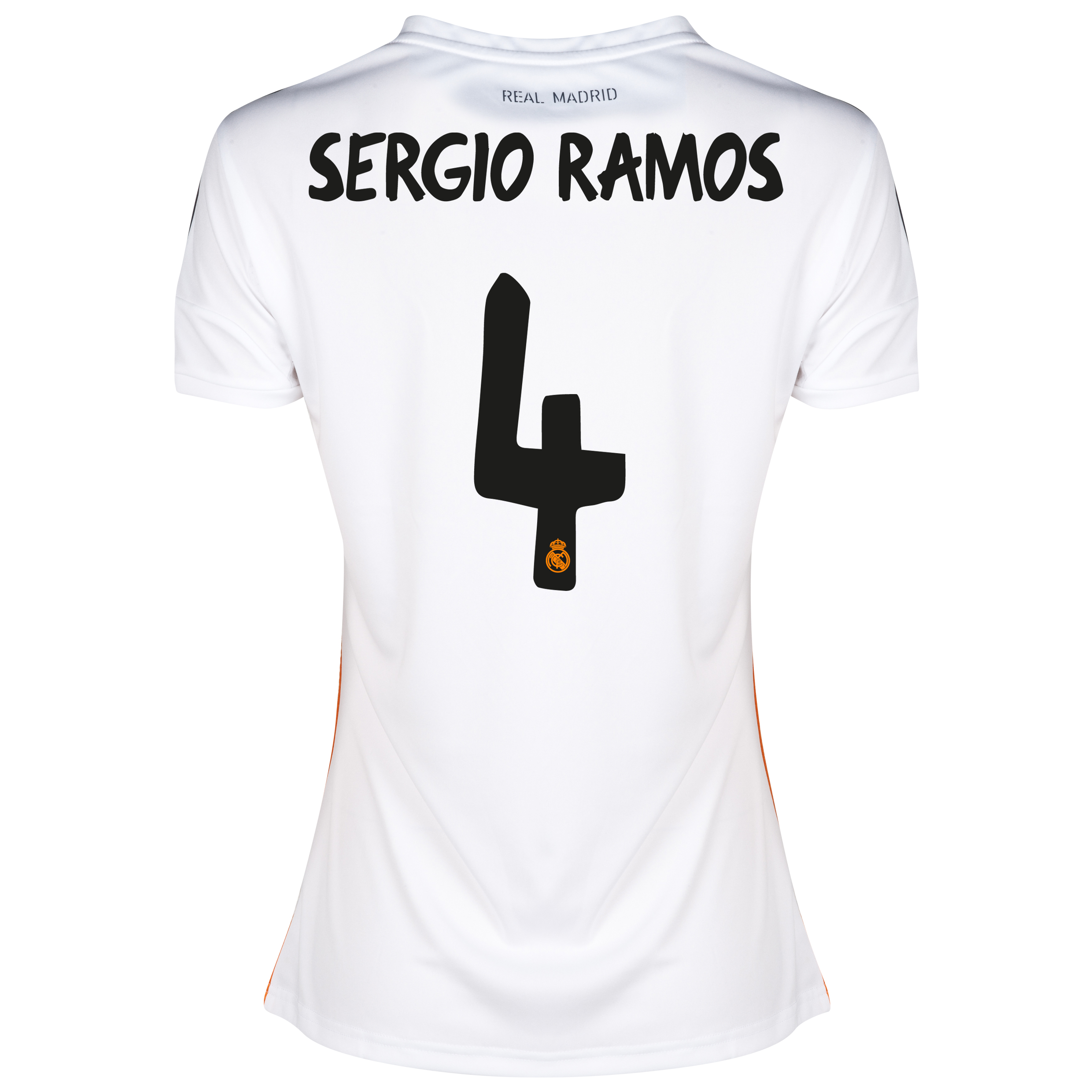 Real Madrid Home Shirt 2013/14 - Womens with Sergio Ramos 4 printing
