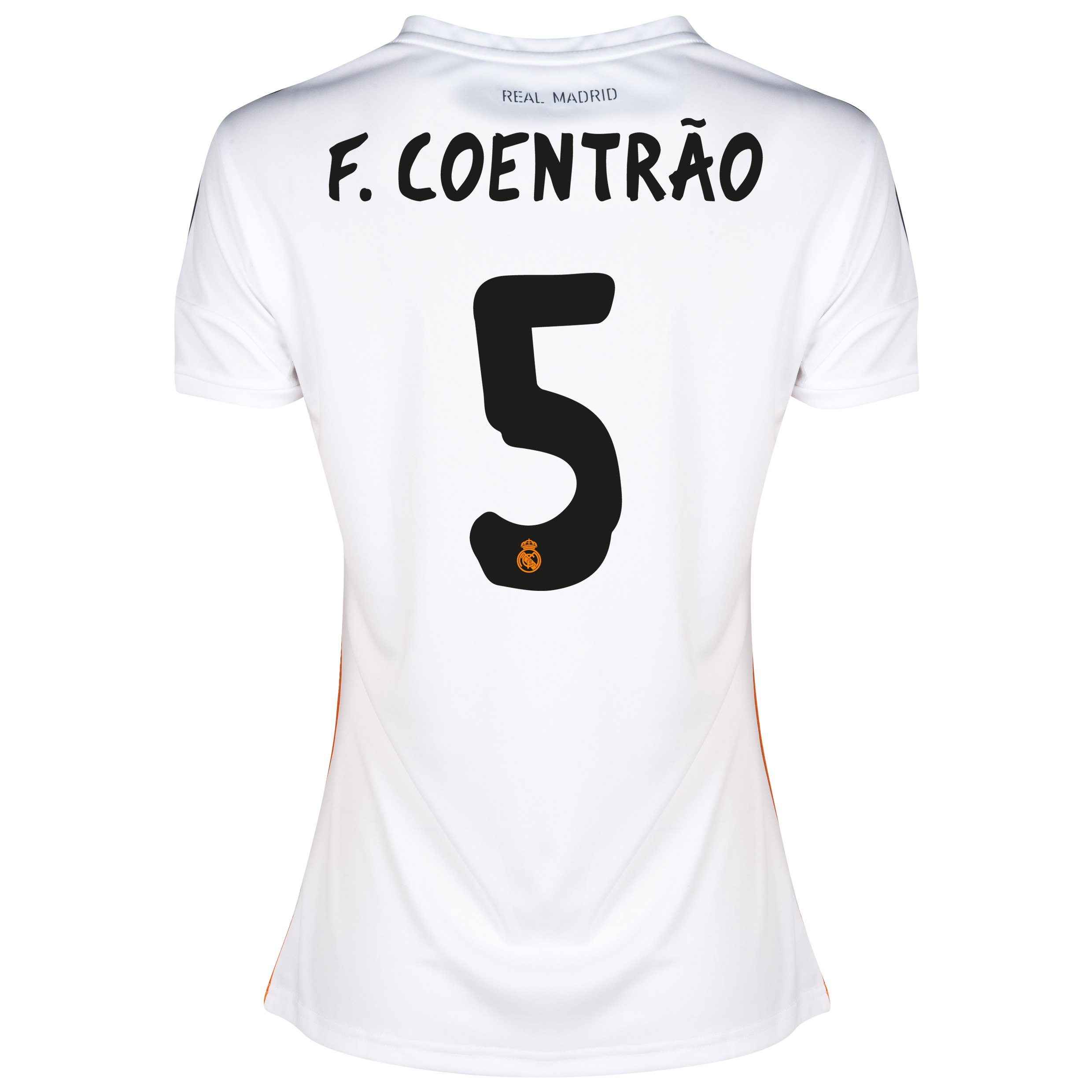 Real Madrid Home Shirt 2013/14 - Womens with CoentrãO 5 printing