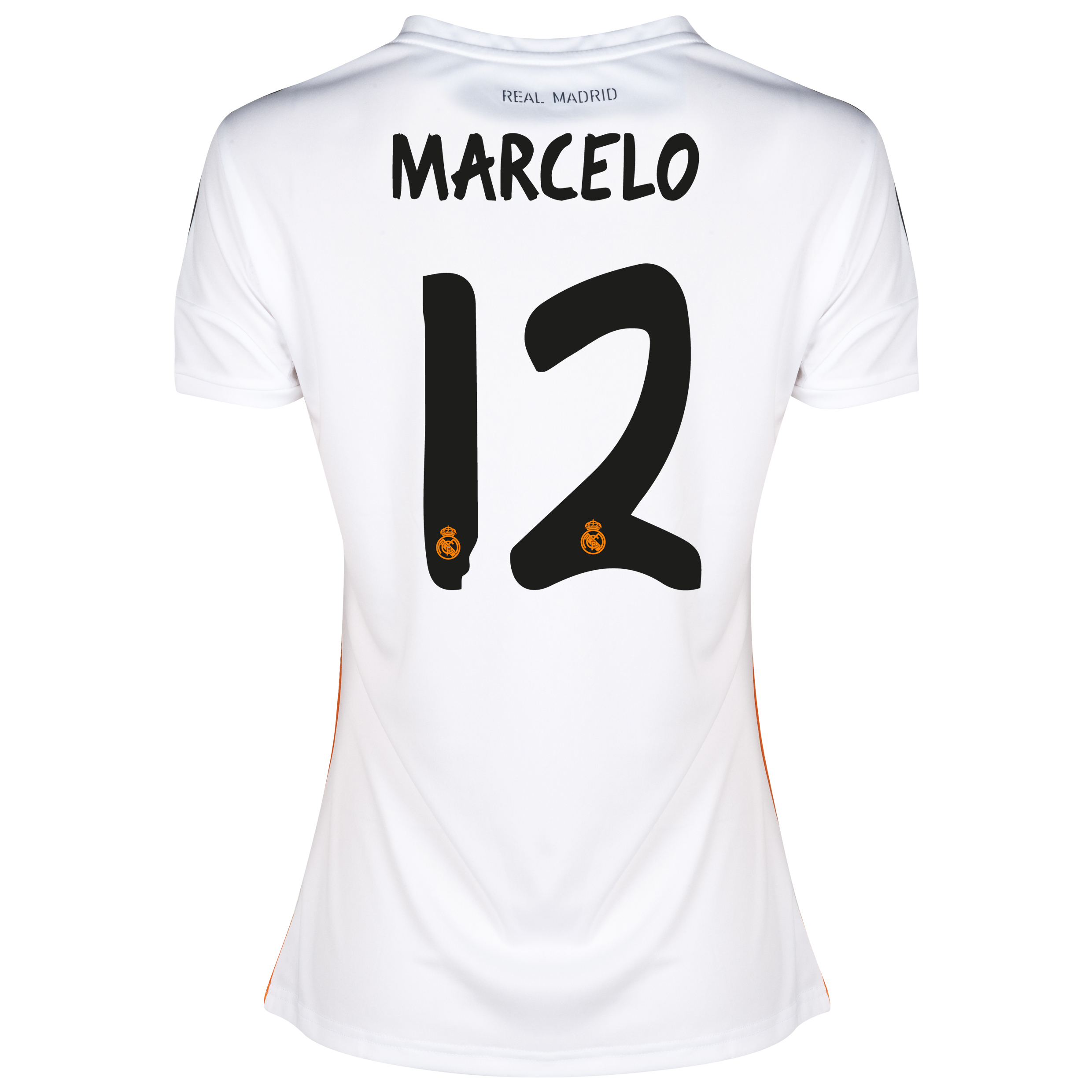 Real Madrid Home Shirt 2013/14 - Womens with Marcelo 12 printing