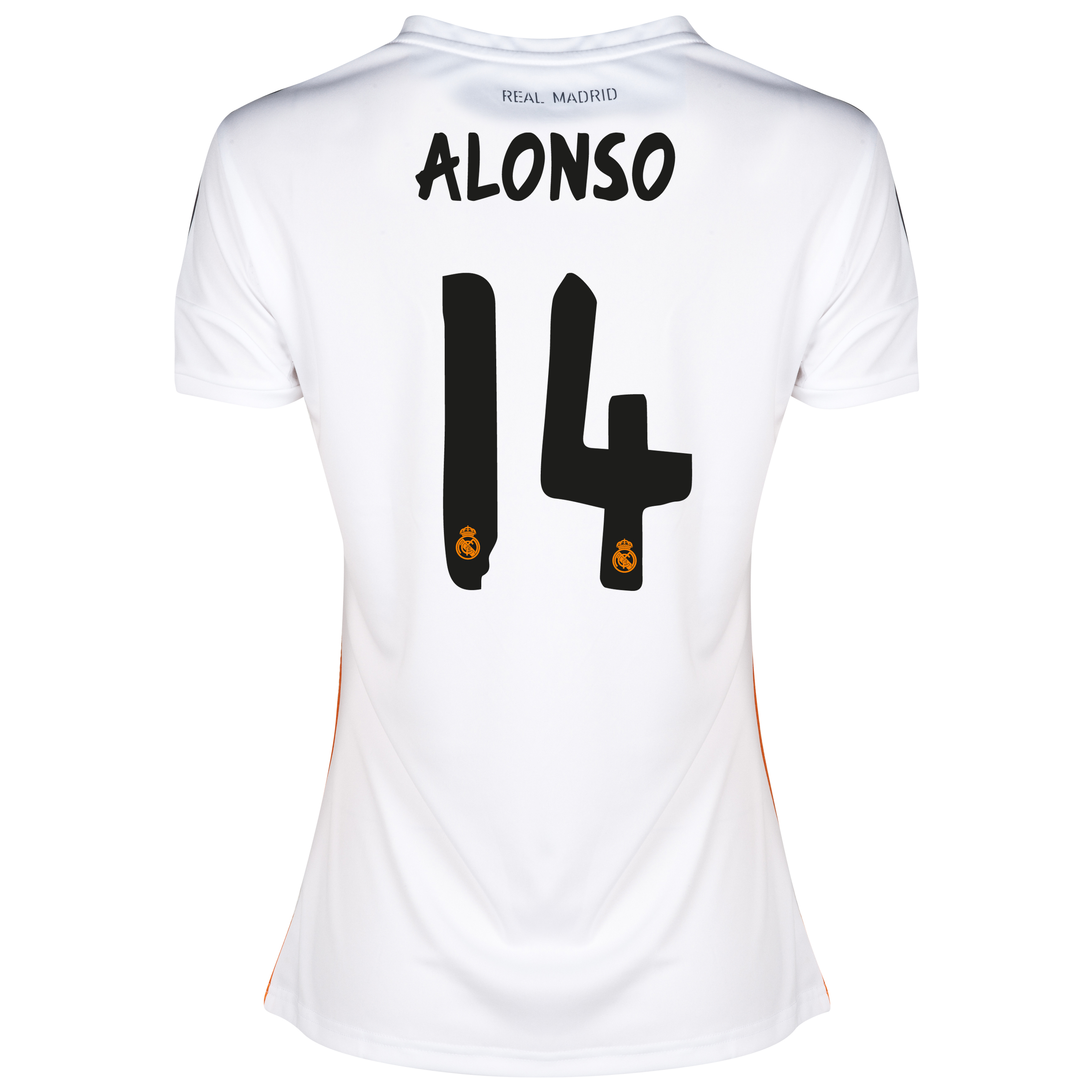 Real Madrid Home Shirt 2013/14 - Womens with Alonso 14 printing