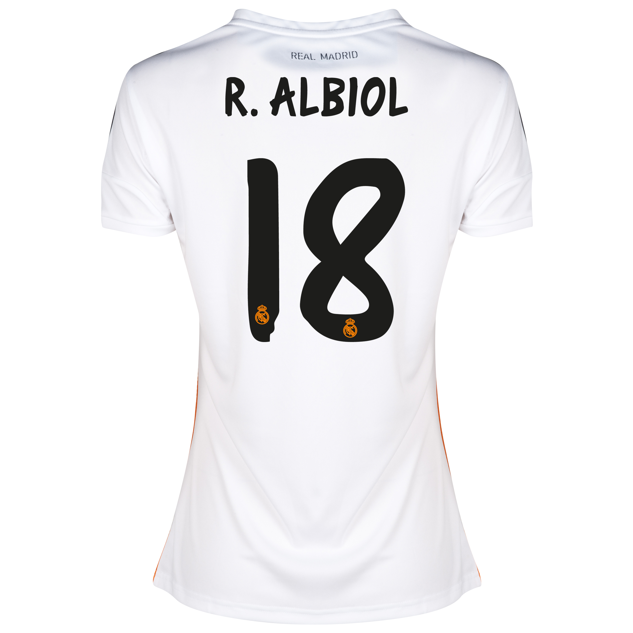 Real Madrid Home Shirt 2013/14 - Womens with Albiol 18 printing