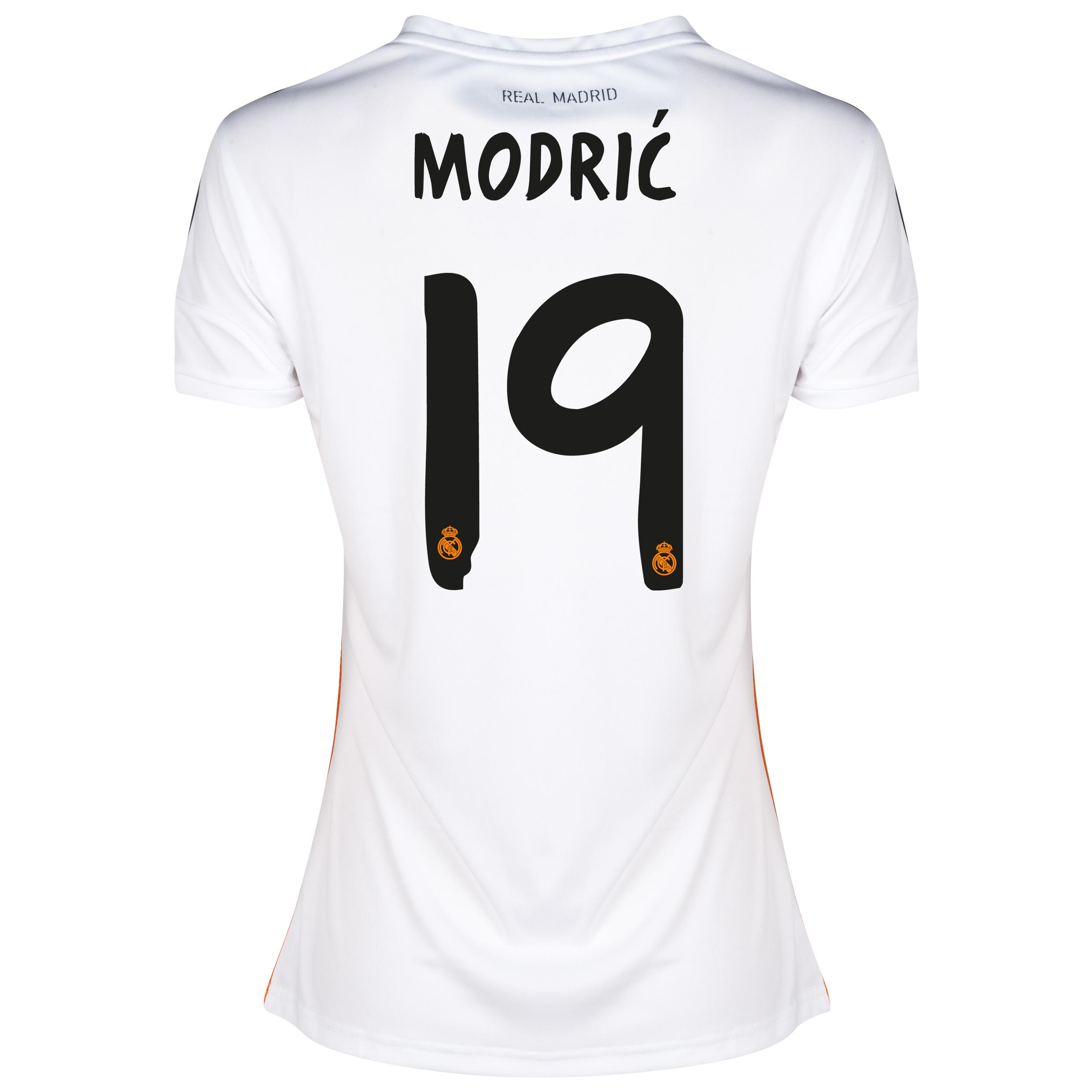 Real Madrid Home Shirt 2013/14 - Womens with Modric 19 printing