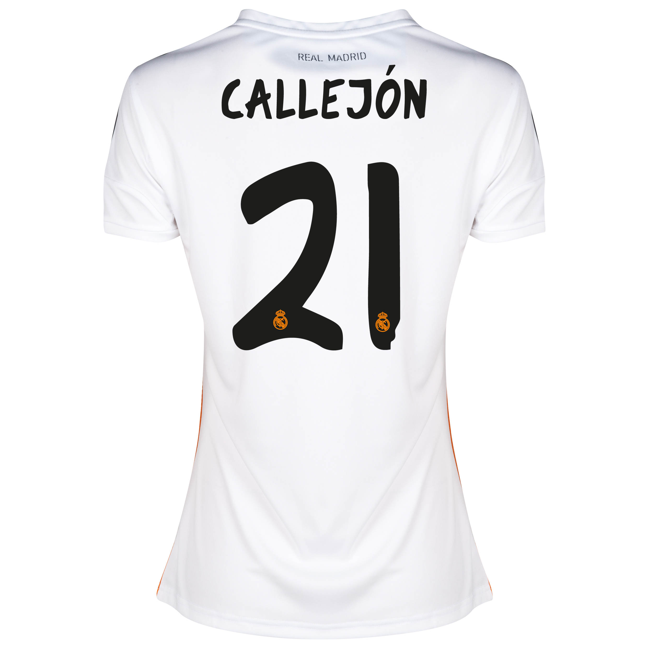Real Madrid Home Shirt 2013/14 - Womens with Callejón 21 printing