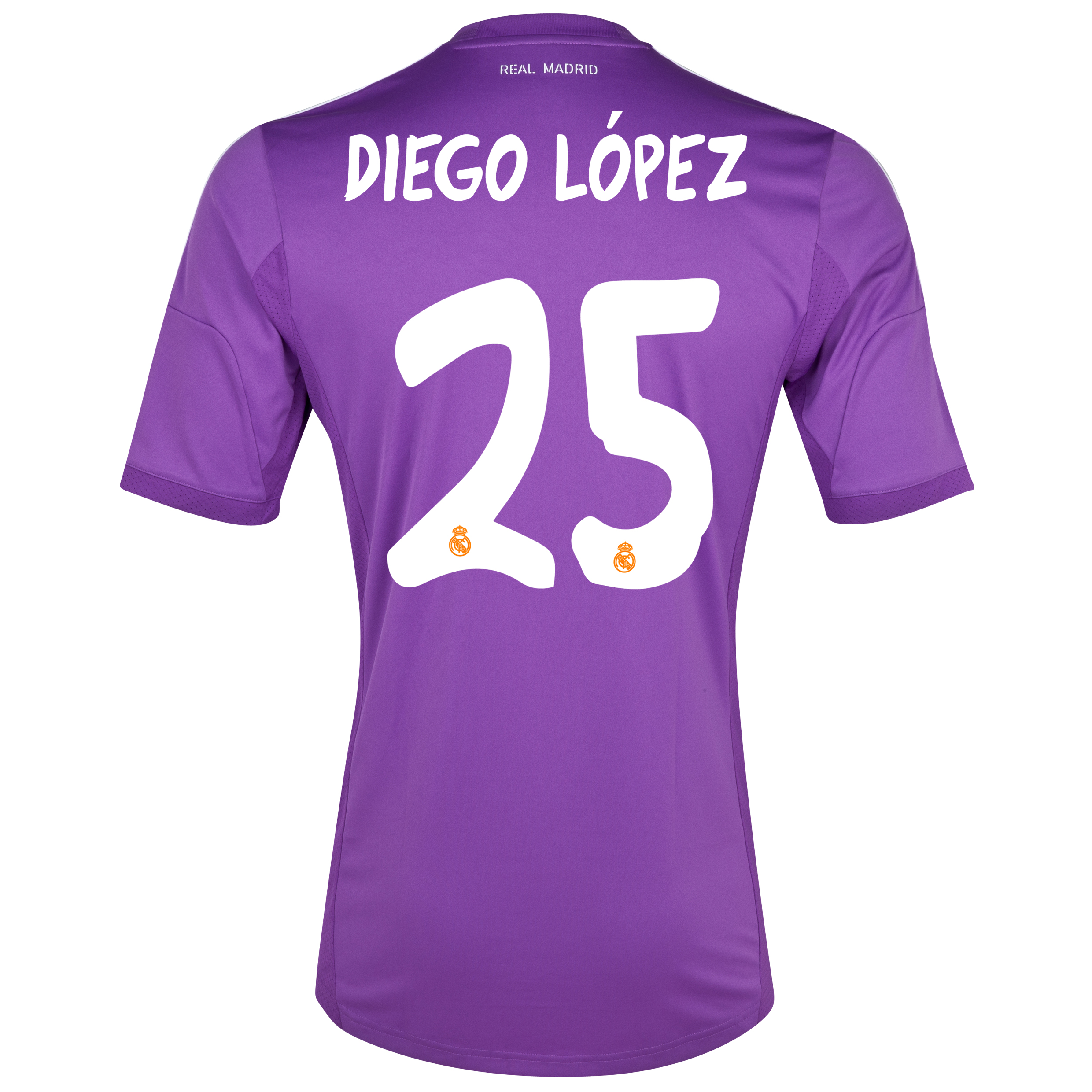 Real Madrid Home Goalkeeper Shirt 2013/14 kids with Diego Lopez 25 printing