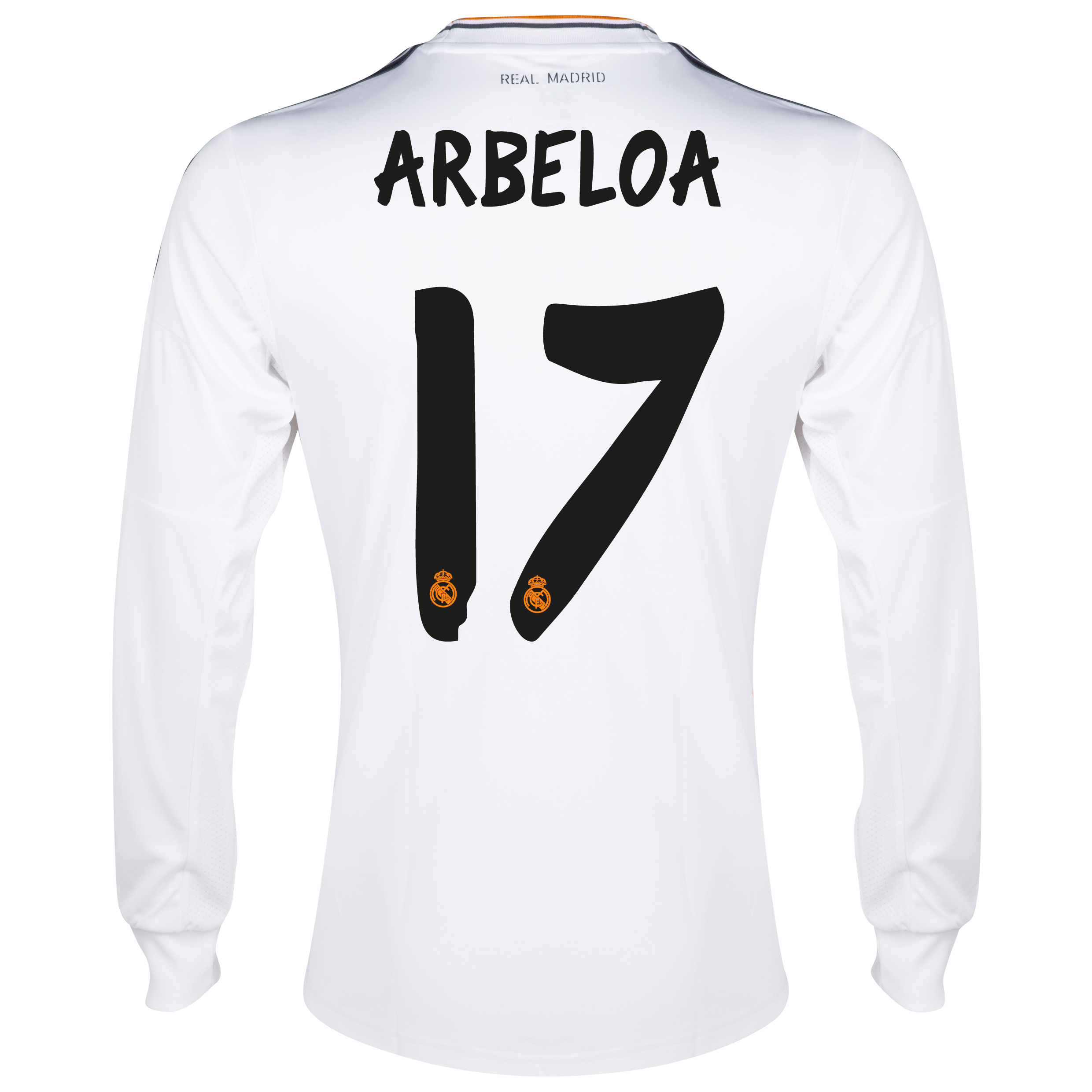 Real Madrid Home Shirt 2013/14 - Long Sleeve with Arbeloa 17 printing