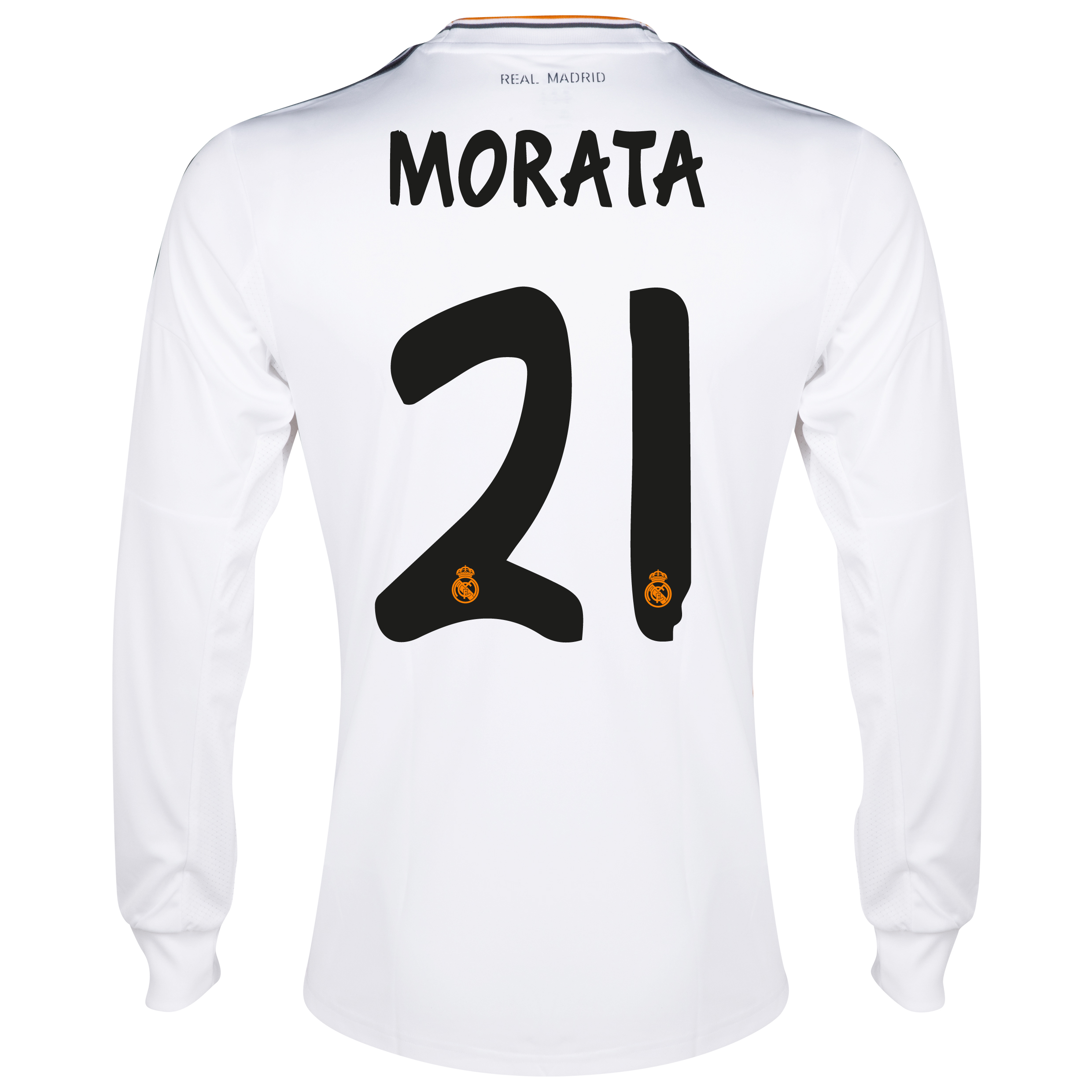 Real Madrid Home Shirt 2013/14 - Long Sleeve with Morata 29 printing