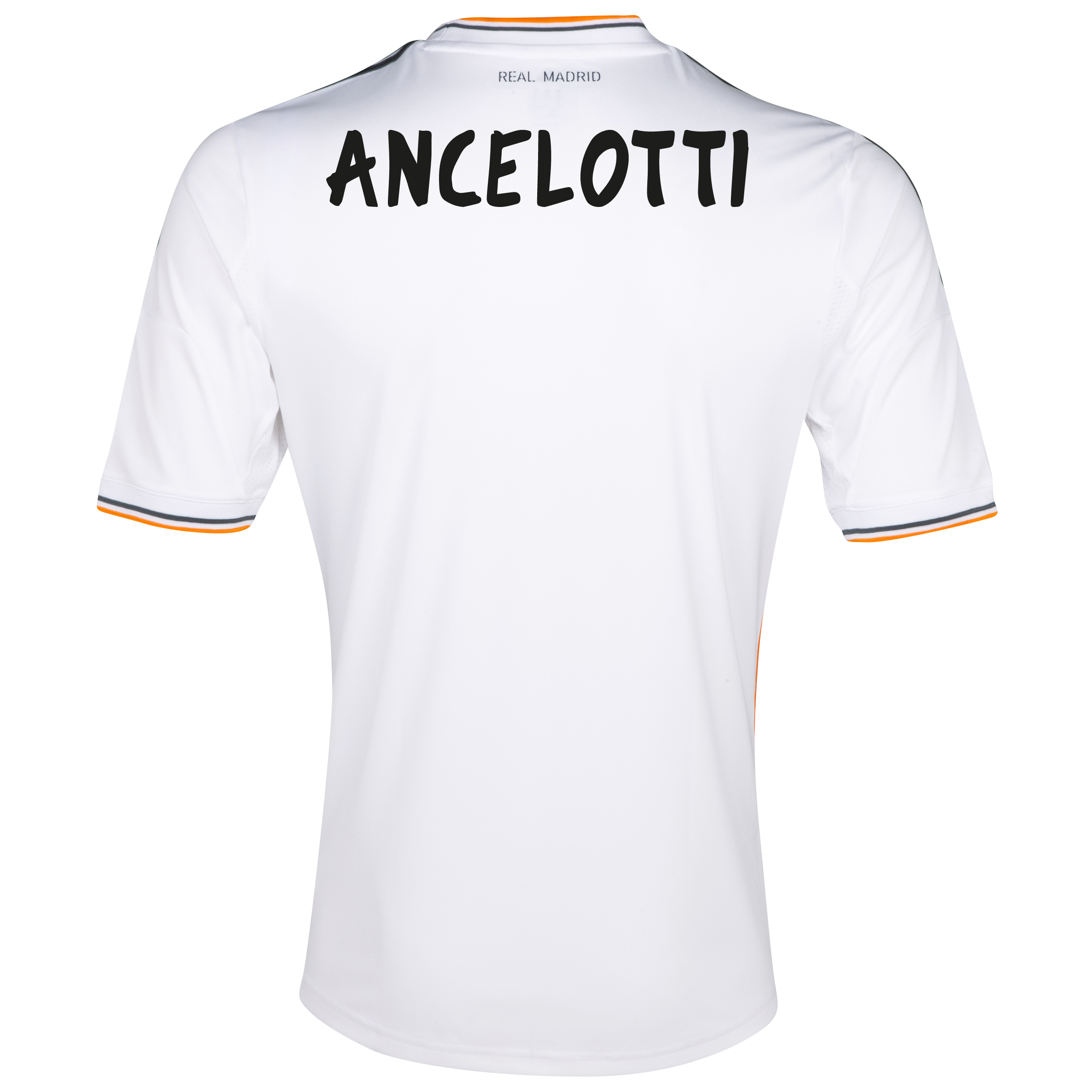 Real Madrid Home Shirt 2013/14 with Ancelotti  printing
