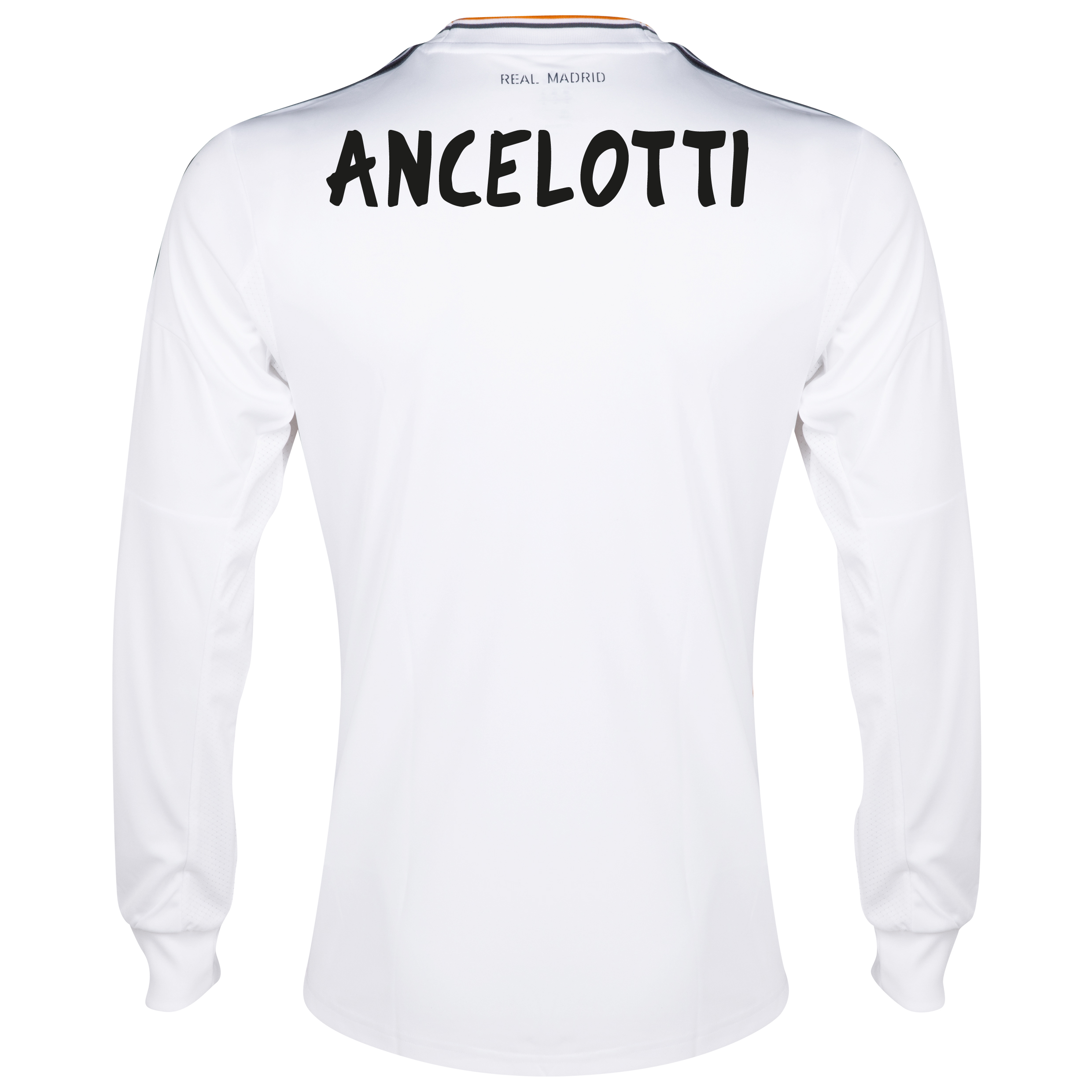Real Madrid Home Shirt 2013/14 - Long Sleeve with Ancelotti  printing