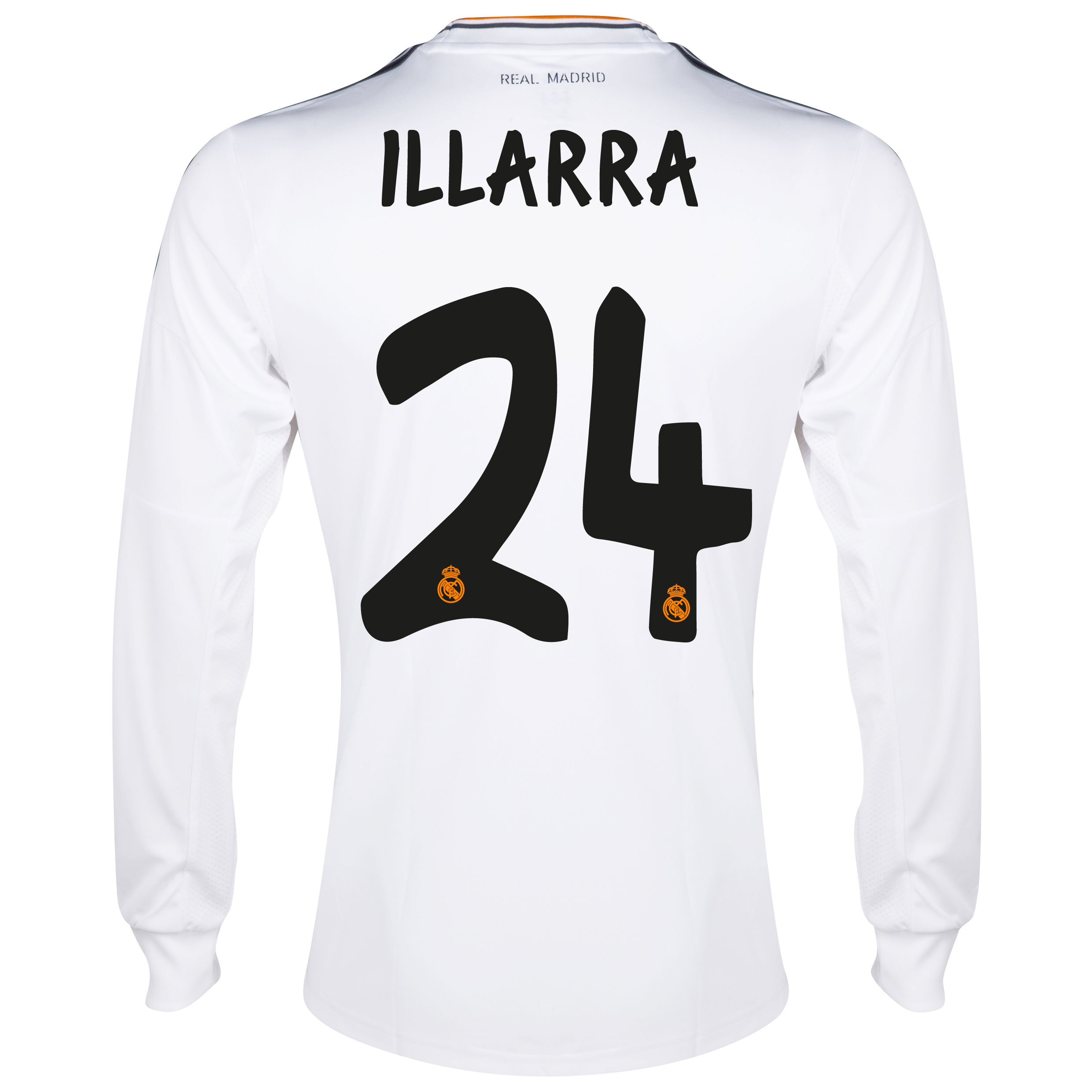 Camiseta local Real Madrid 2013/14 con impresión Illara 24 - Manga larga