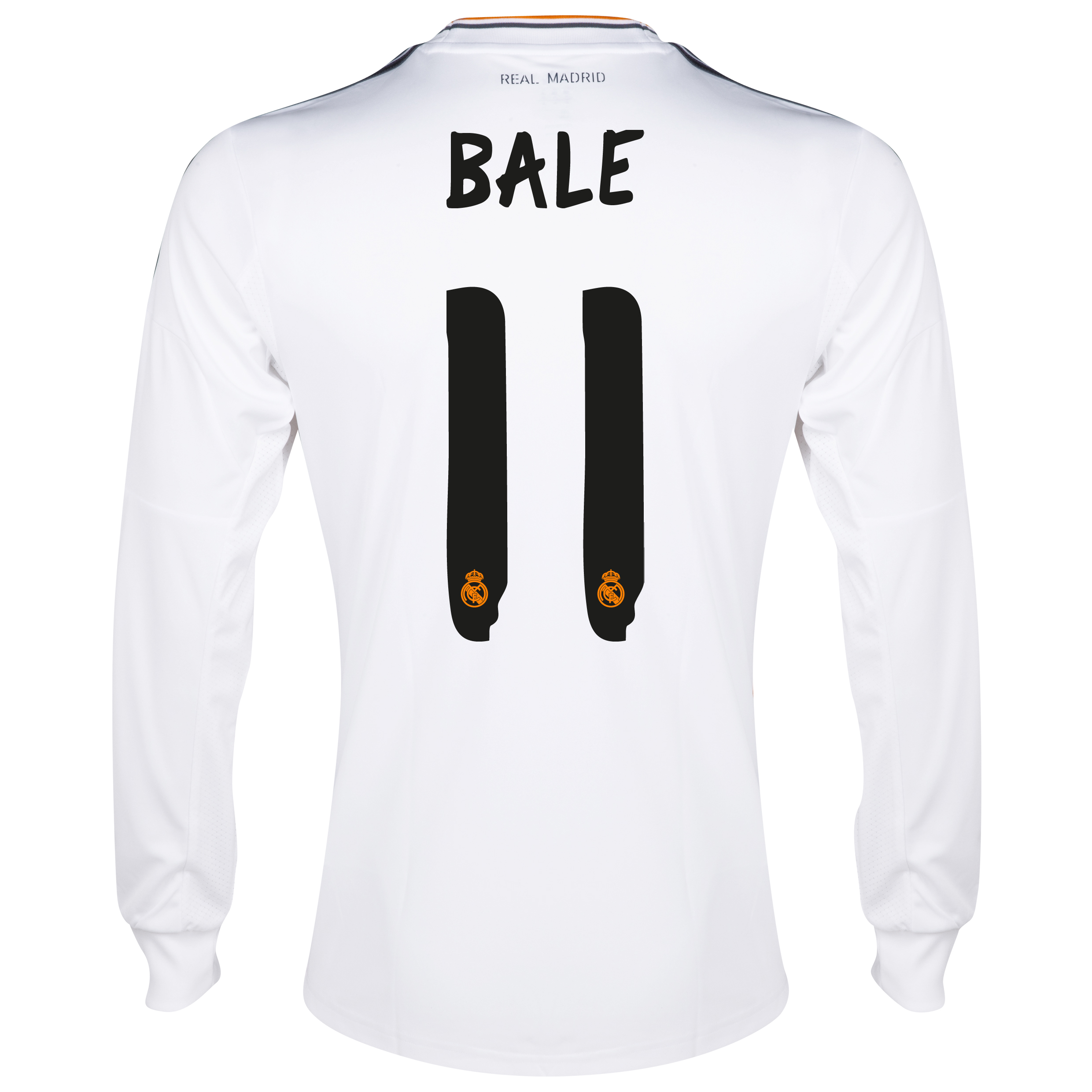 Real Madrid Home Shirt 2013/14 - Long Sleeve with Bale 11 printing