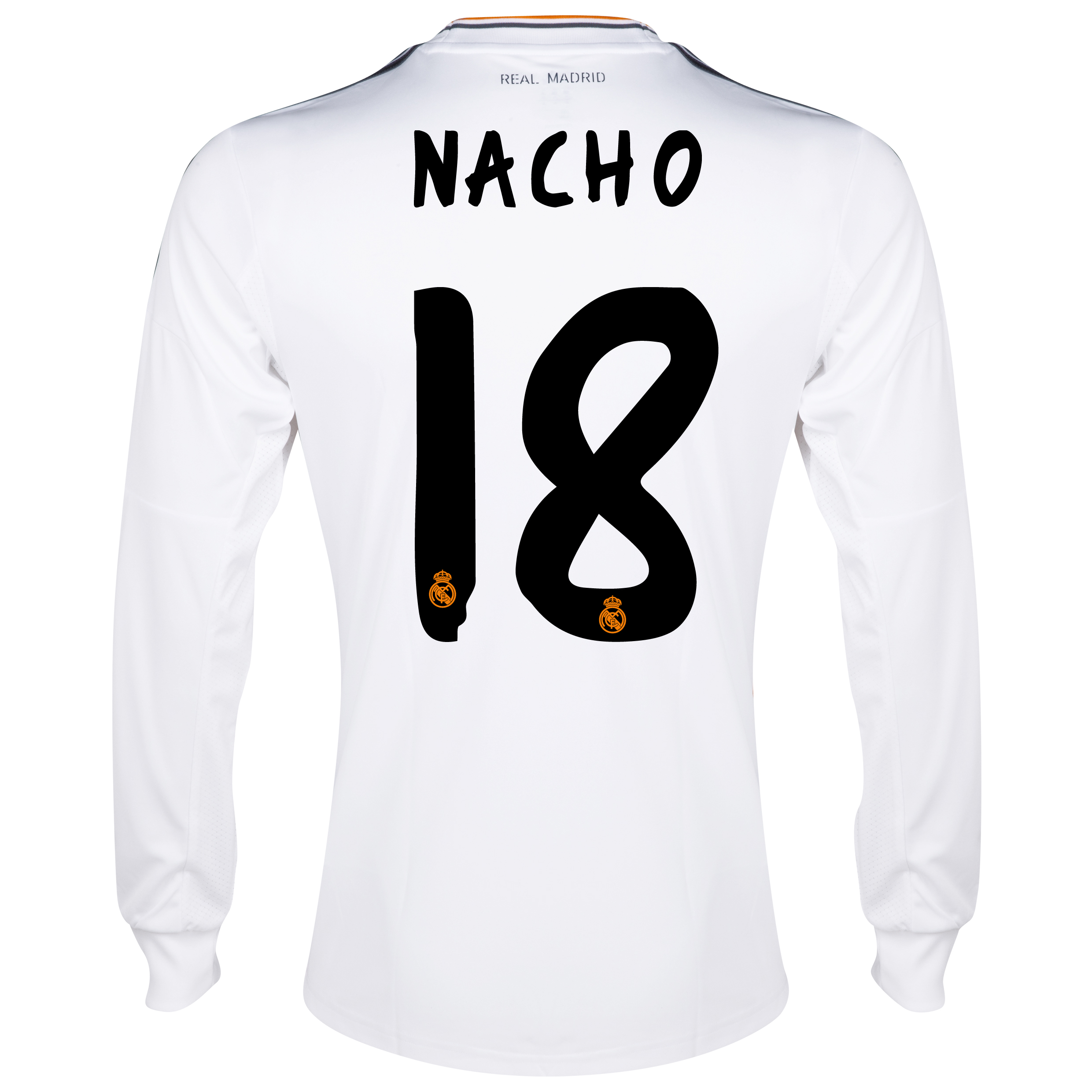 Real Madrid Home Shirt 2013/14 - Long Sleeve with Nacho 18 printing