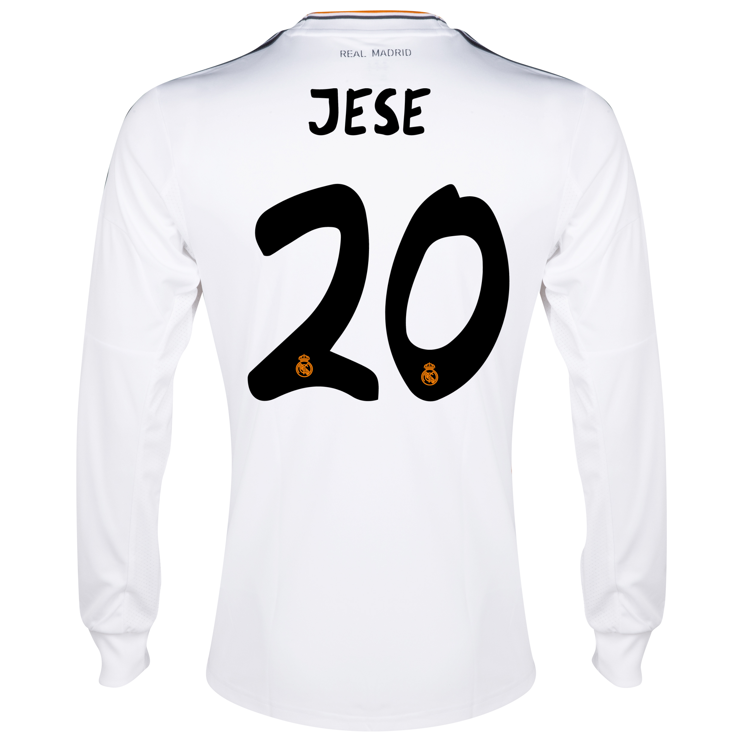 Real Madrid Home Shirt 2013/14 - Long Sleeve with Jese 20 printing