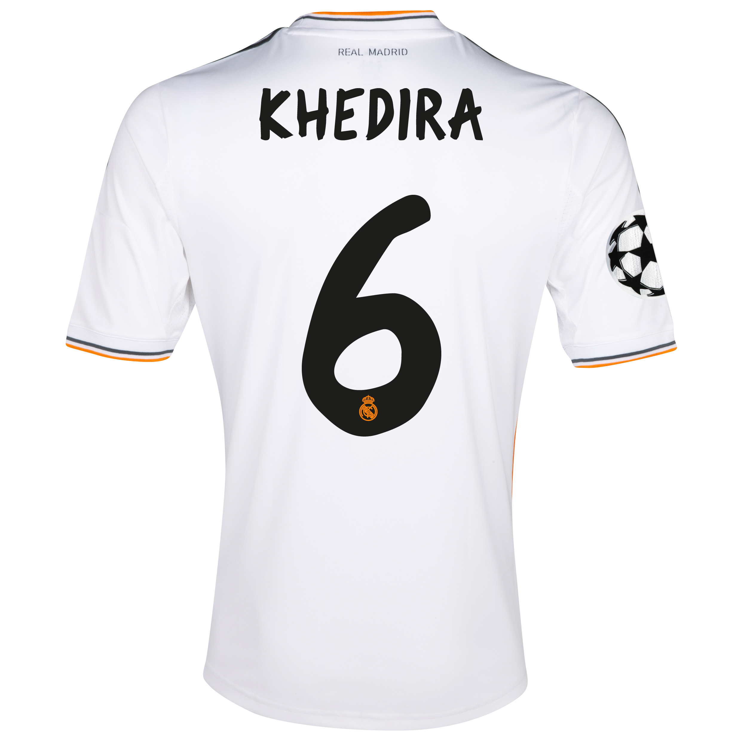Real Madrid UEFA Champions League Home Shirt 2013/14 with Khedira 6 printing