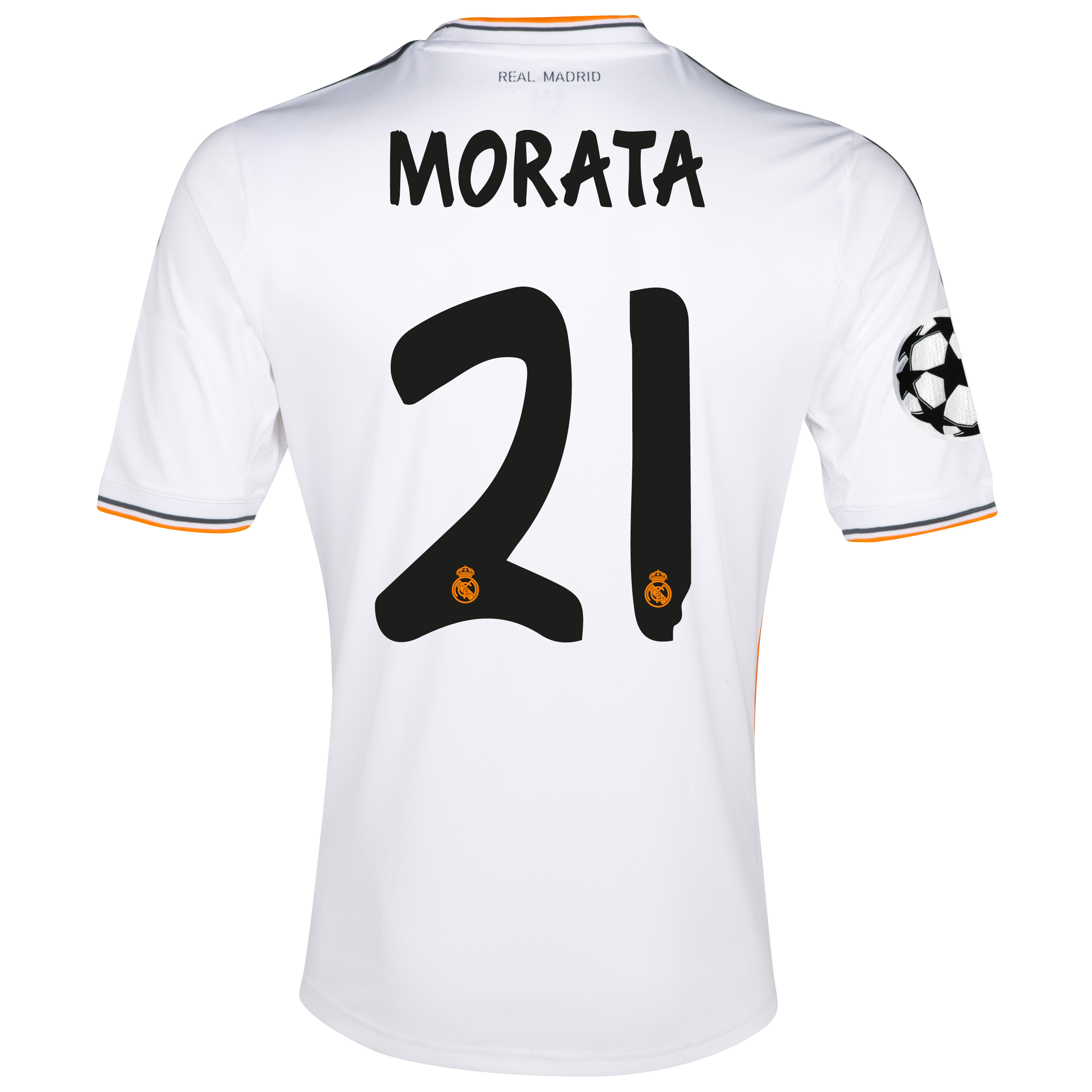 Real Madrid UEFA Champions League Home Shirt 2013/14 with Morata 21 printing