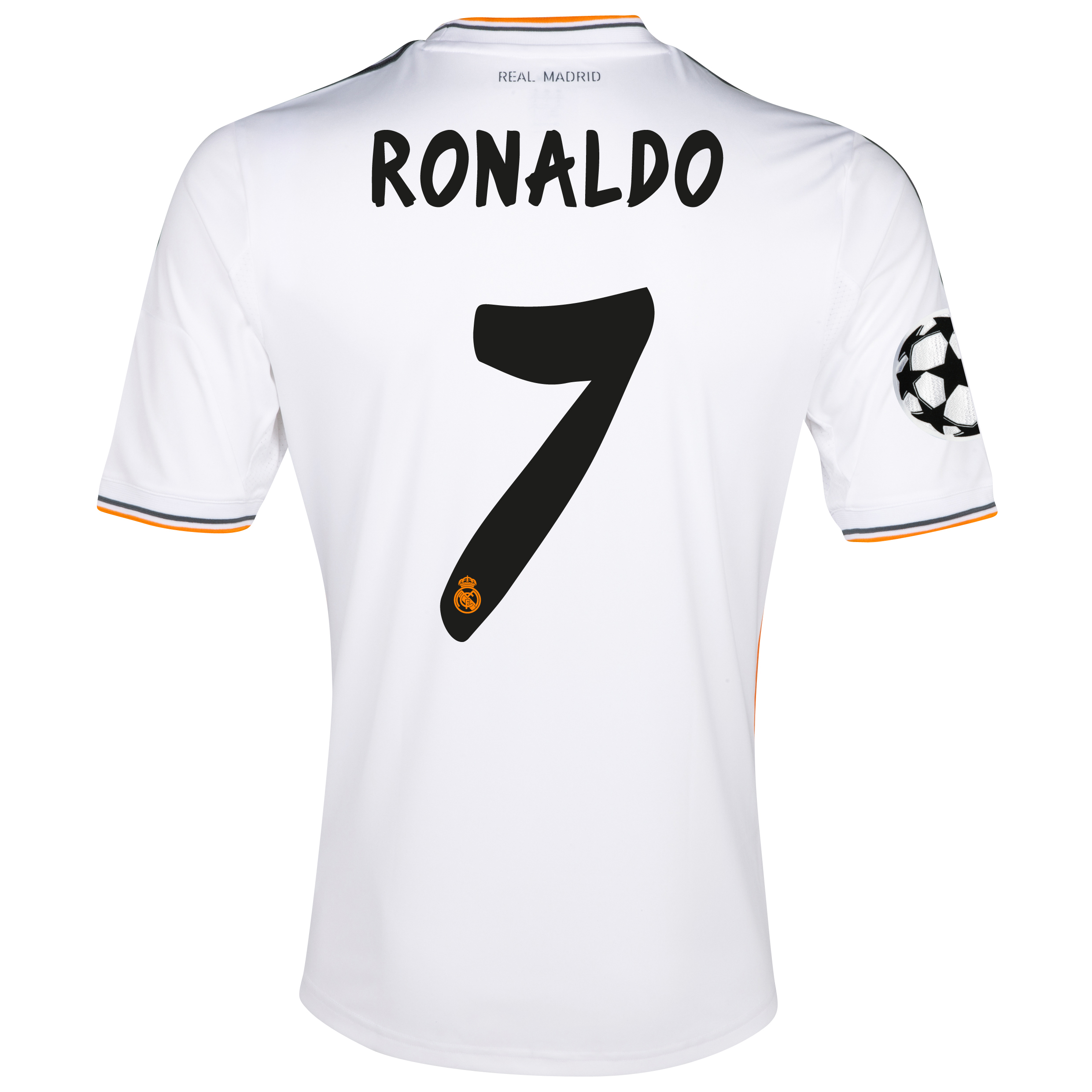 Real Madrid UEFA Champions League Home Shirt 2013/14 - kids with Ronaldo 7 printing