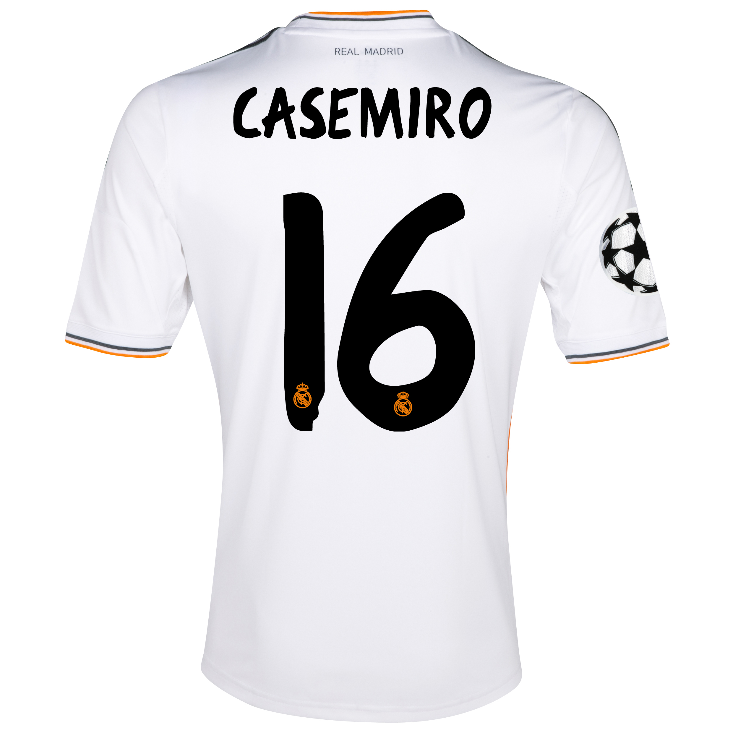 Real Madrid UEFA Champions League Home Shirt 2013/14 - kids with Casemiro 16 printing