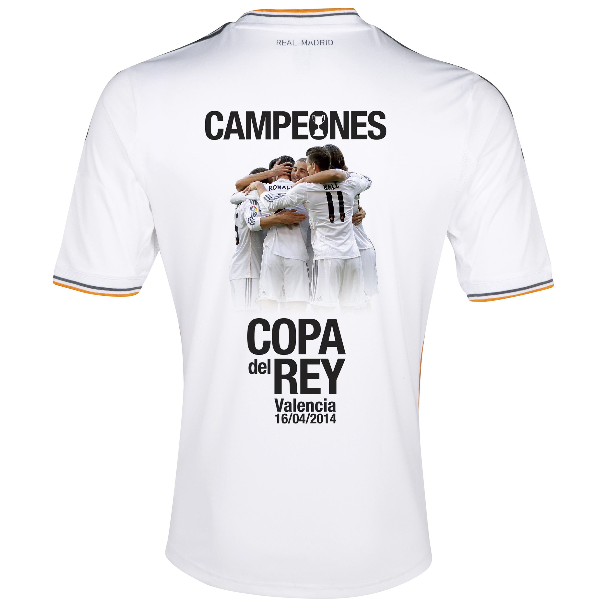 Real Madrid Home Shirt 2013/14 with Copa Del Rey Winner printing