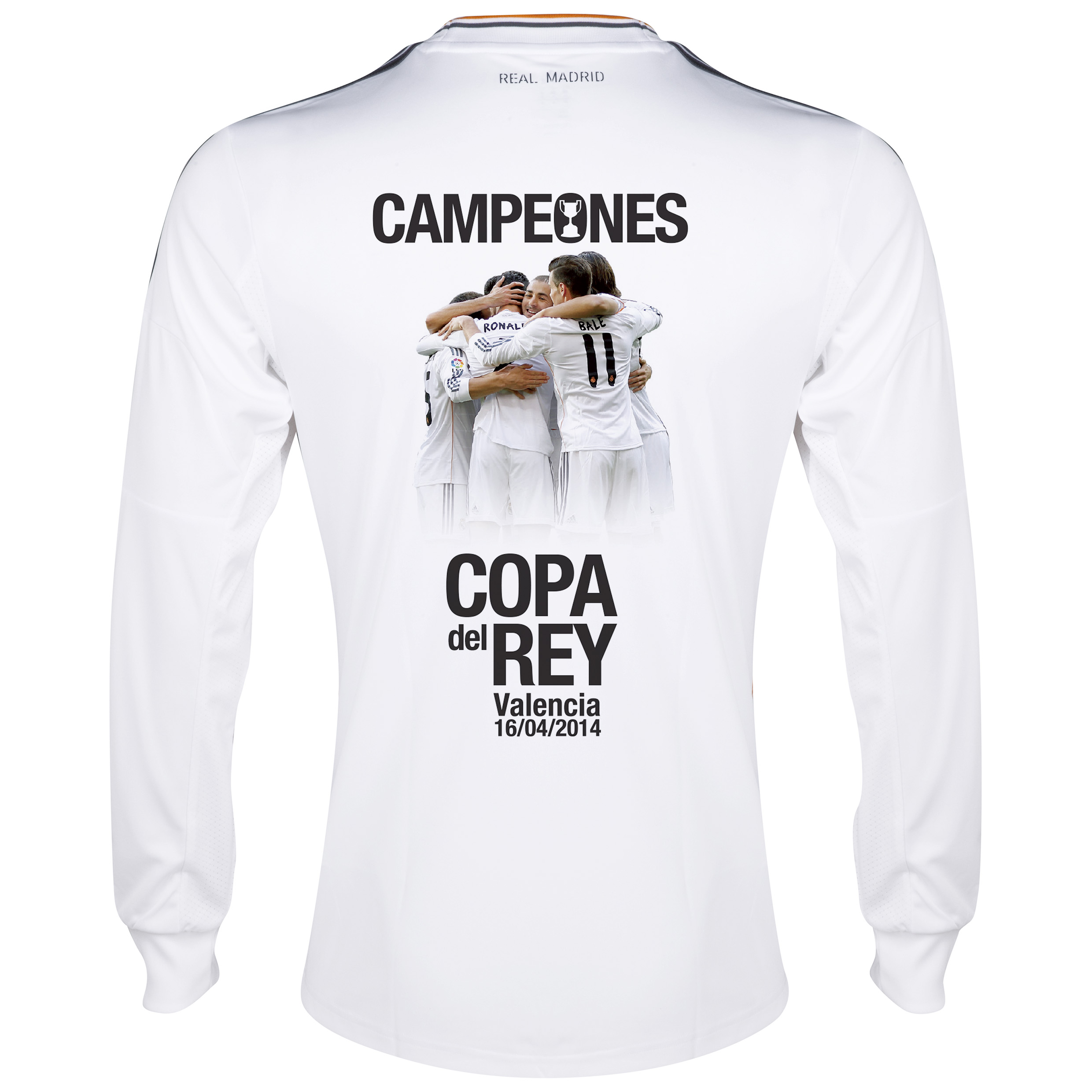 Real Madrid Home Shirt 2013/14 - Long Sleeve with Copa Del Rey Winner printing