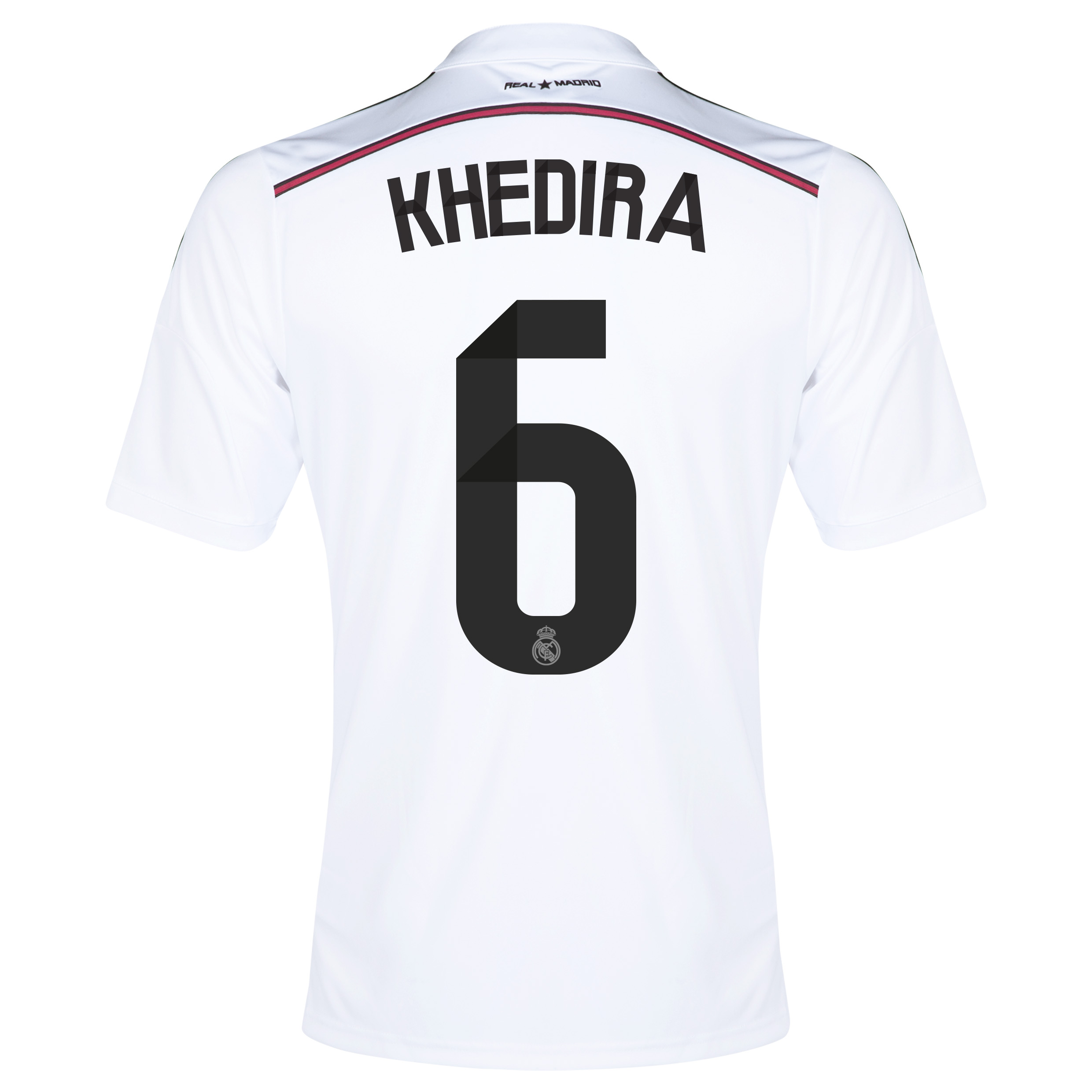 Real Madrid Home Shirt 2014/15 with Khedira 6 printing