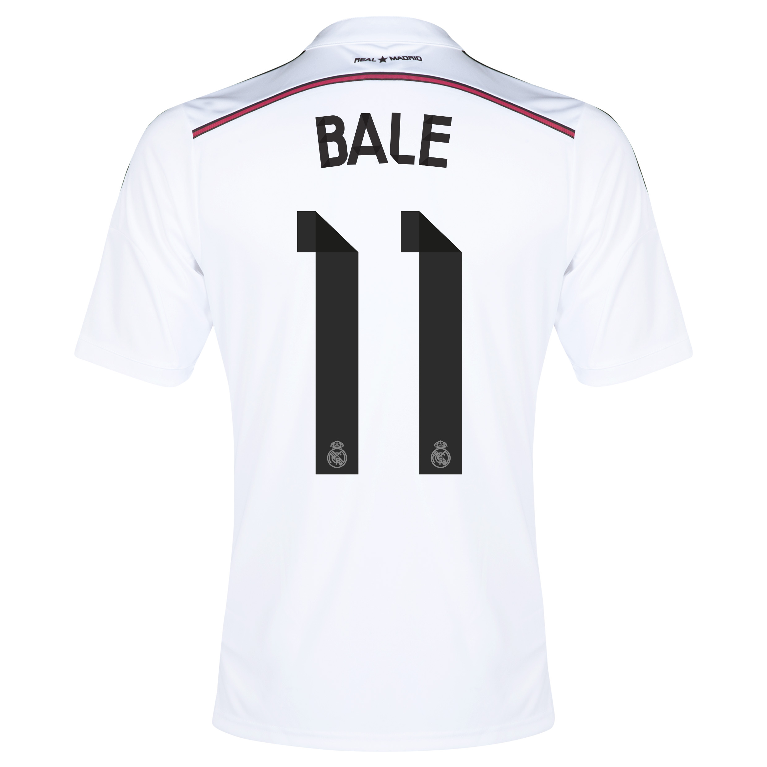 Real Madrid Home Shirt 2014/15 with Bale 11 printing