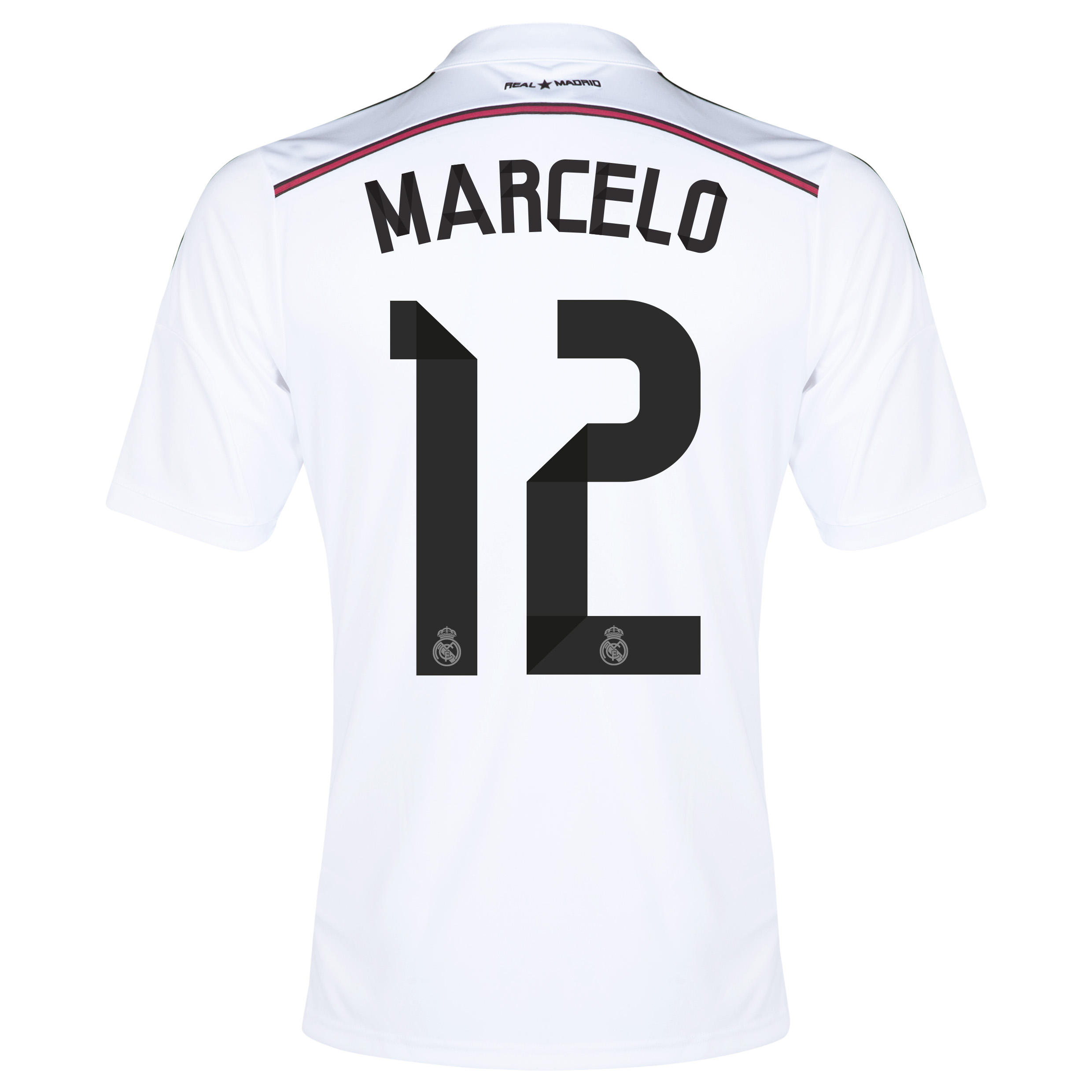 Real Madrid Home Shirt 2014/15 with Marcelo 12 printing