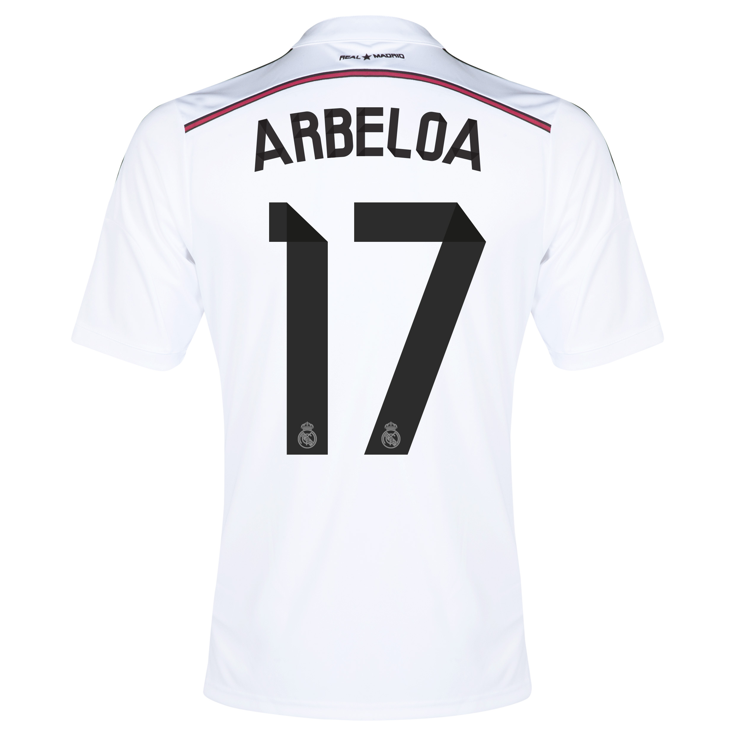Real Madrid Home Shirt 2014/15 with Arbeloa 17 printing