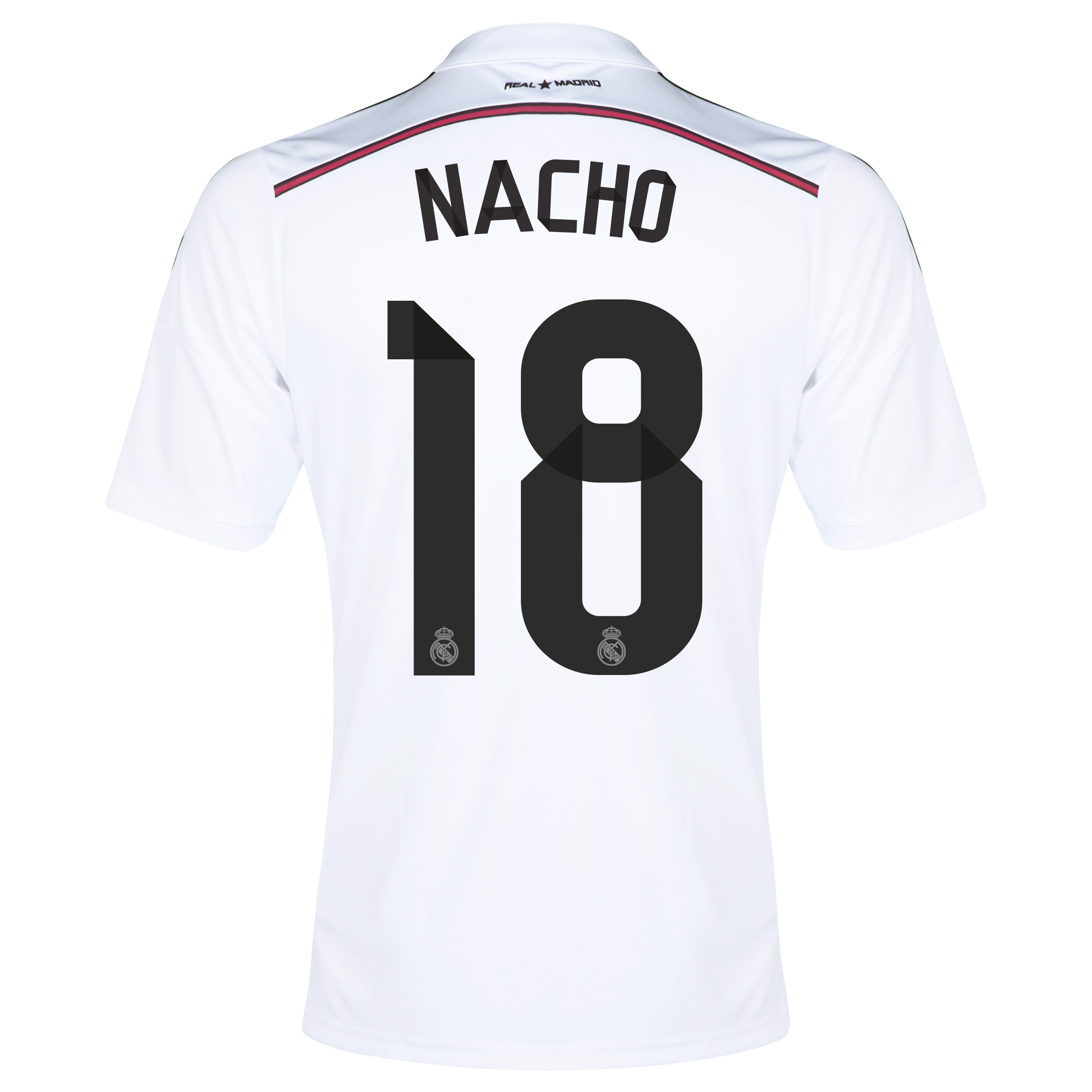 Real Madrid Home Shirt 2014/15 with Nacho 18 printing