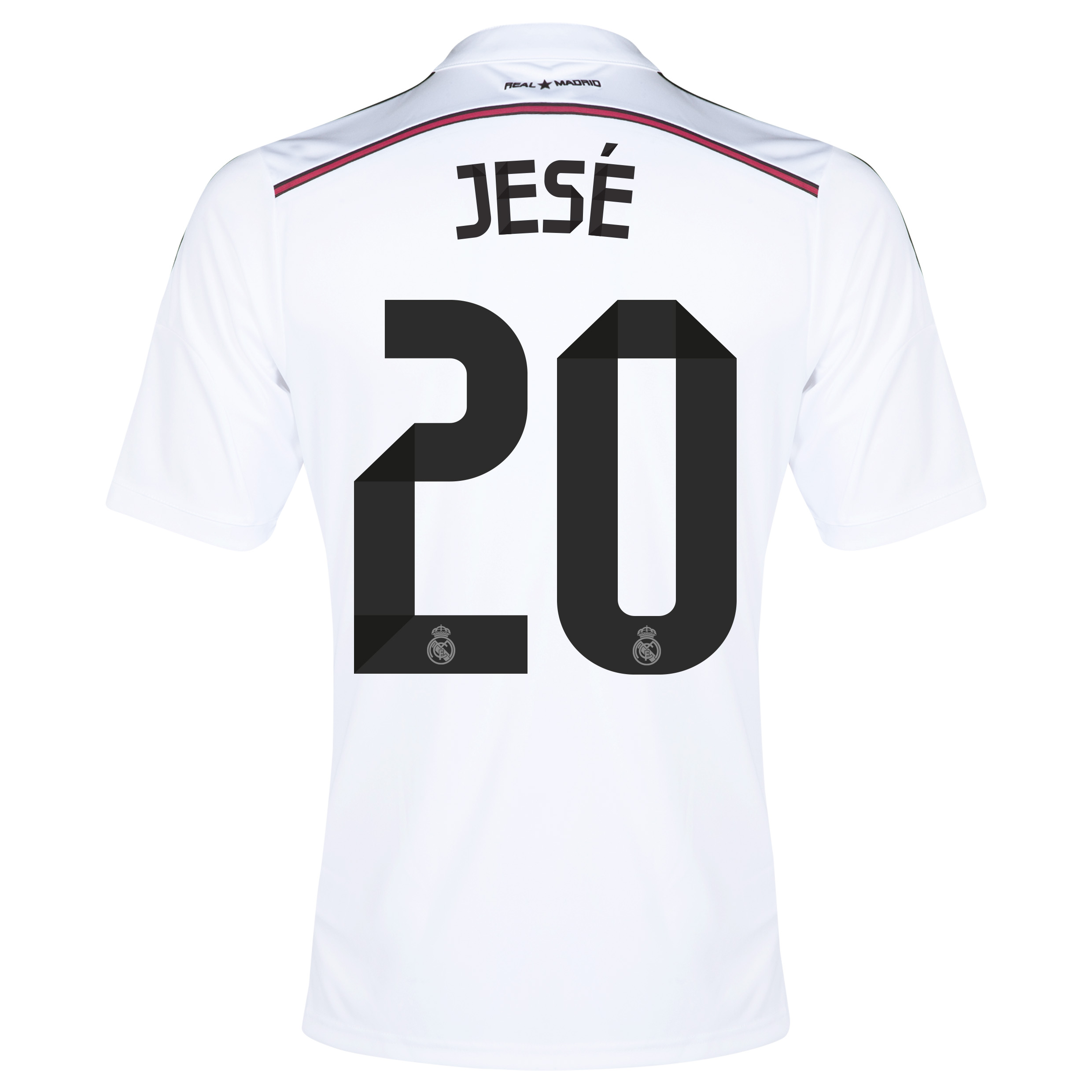 Real Madrid Home Shirt 2014/15 with Jese 20 printing