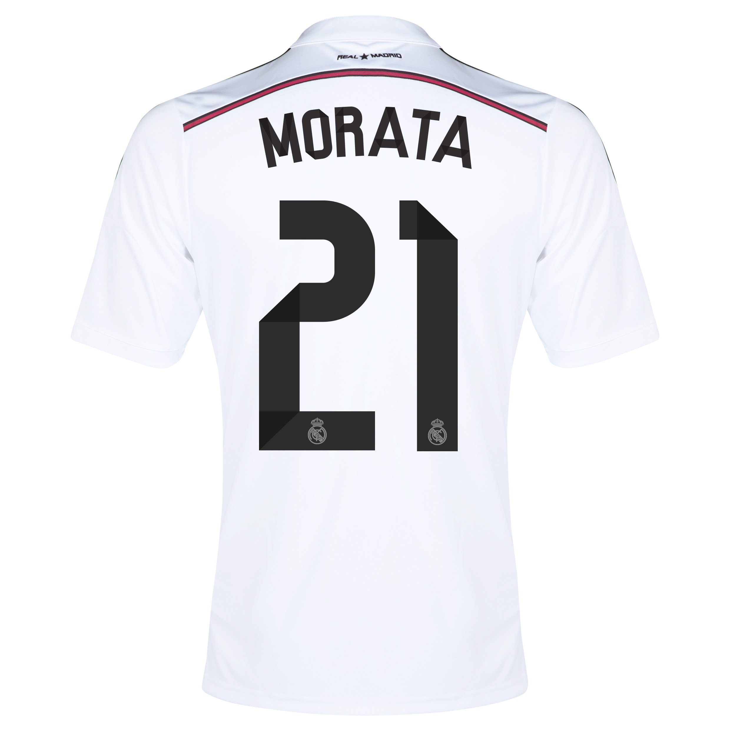 Real Madrid Home Shirt 2014/15 with Morata 21 printing
