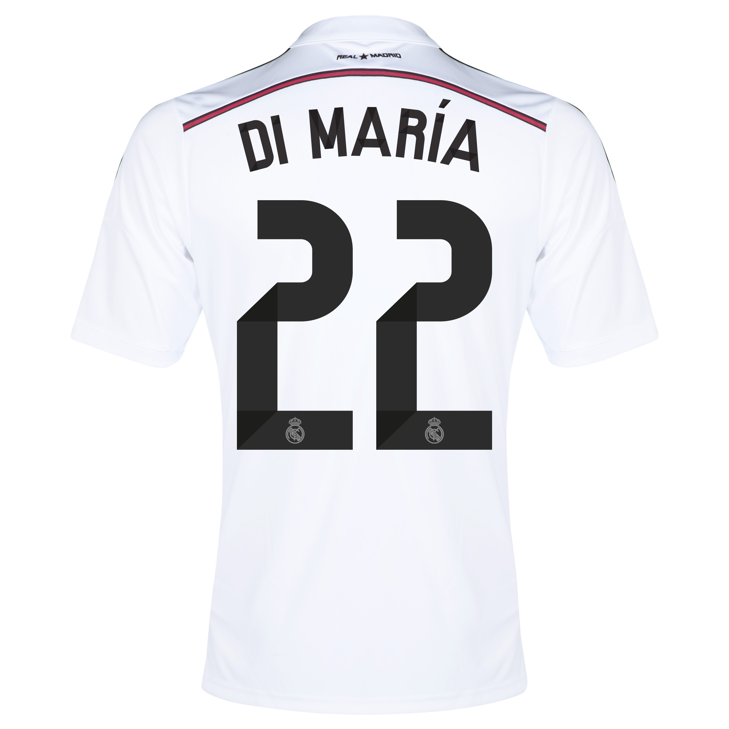 Real Madrid Home Shirt 2014/15 with Di María 22 printing