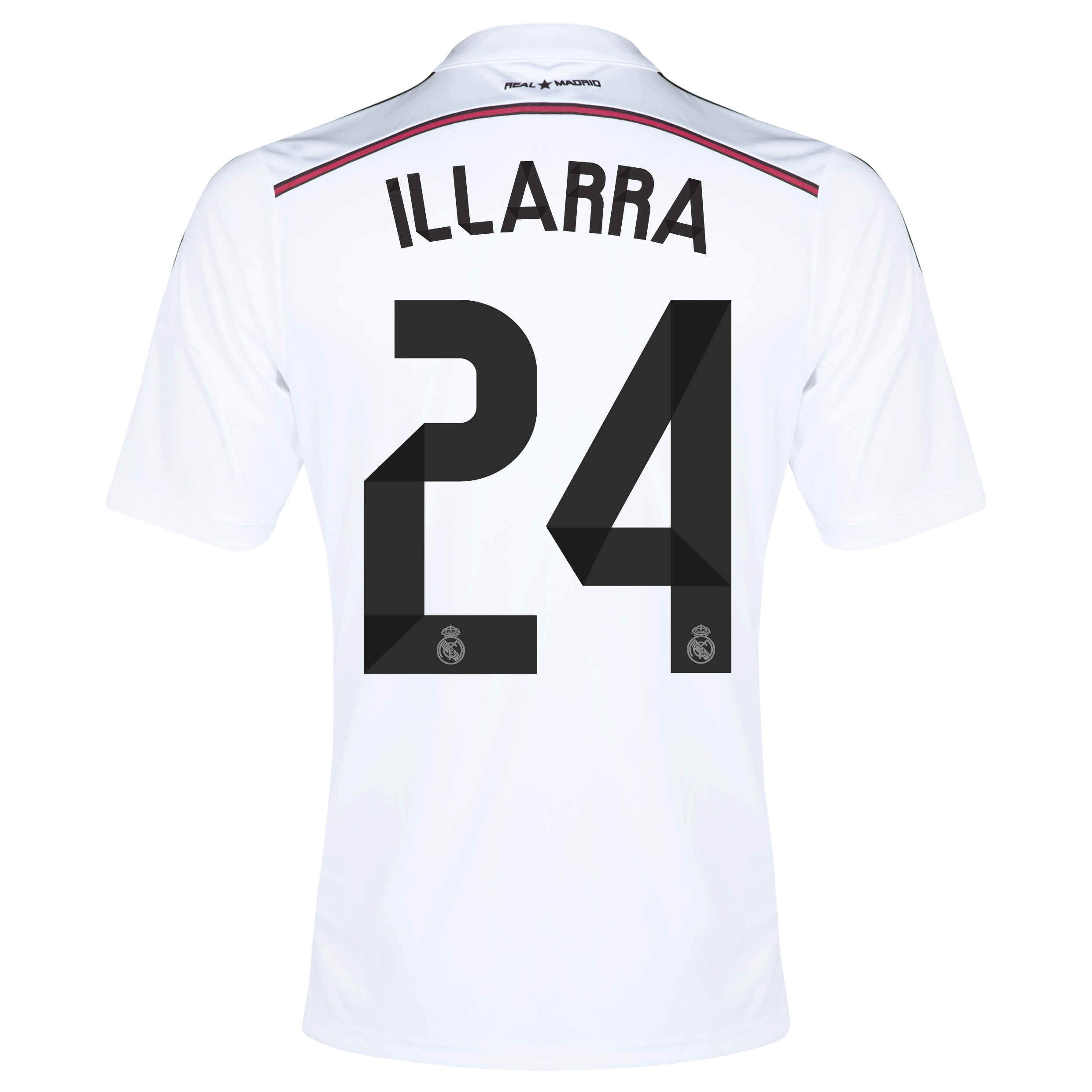 Real Madrid Home Shirt 2014/15 with Illarra 24 printing