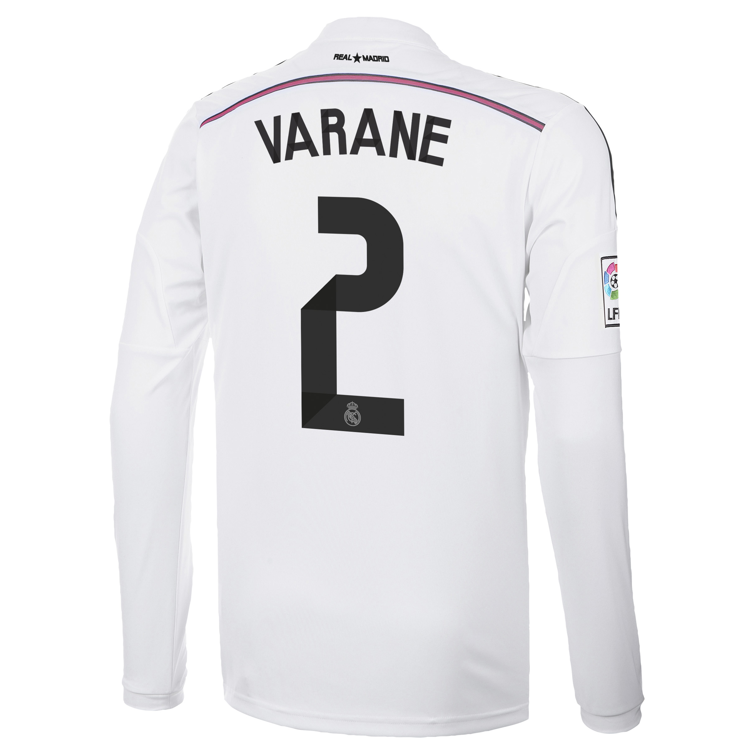 Real Madrid Home Shirt 2014/15 Long Sleeve with Varane 2 printing
