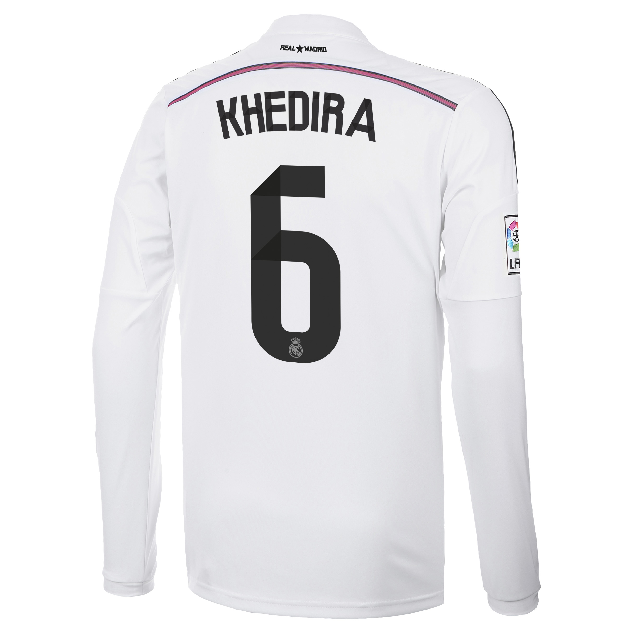Real Madrid Home Shirt 2014/15 Long Sleeve with Khedira 6 printing