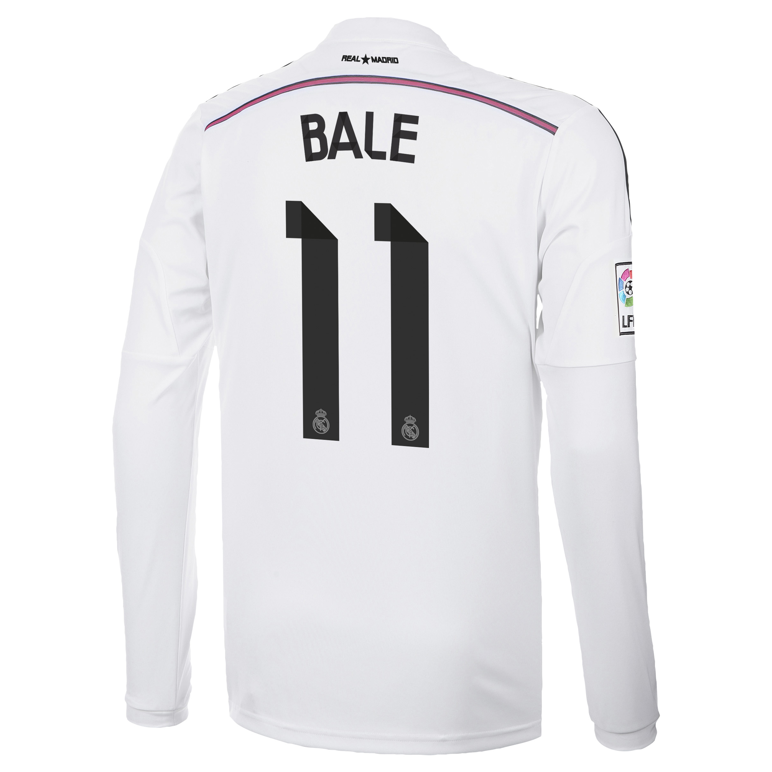 Real Madrid Home Shirt 2014/15 Long Sleeve with Bale 11 printing