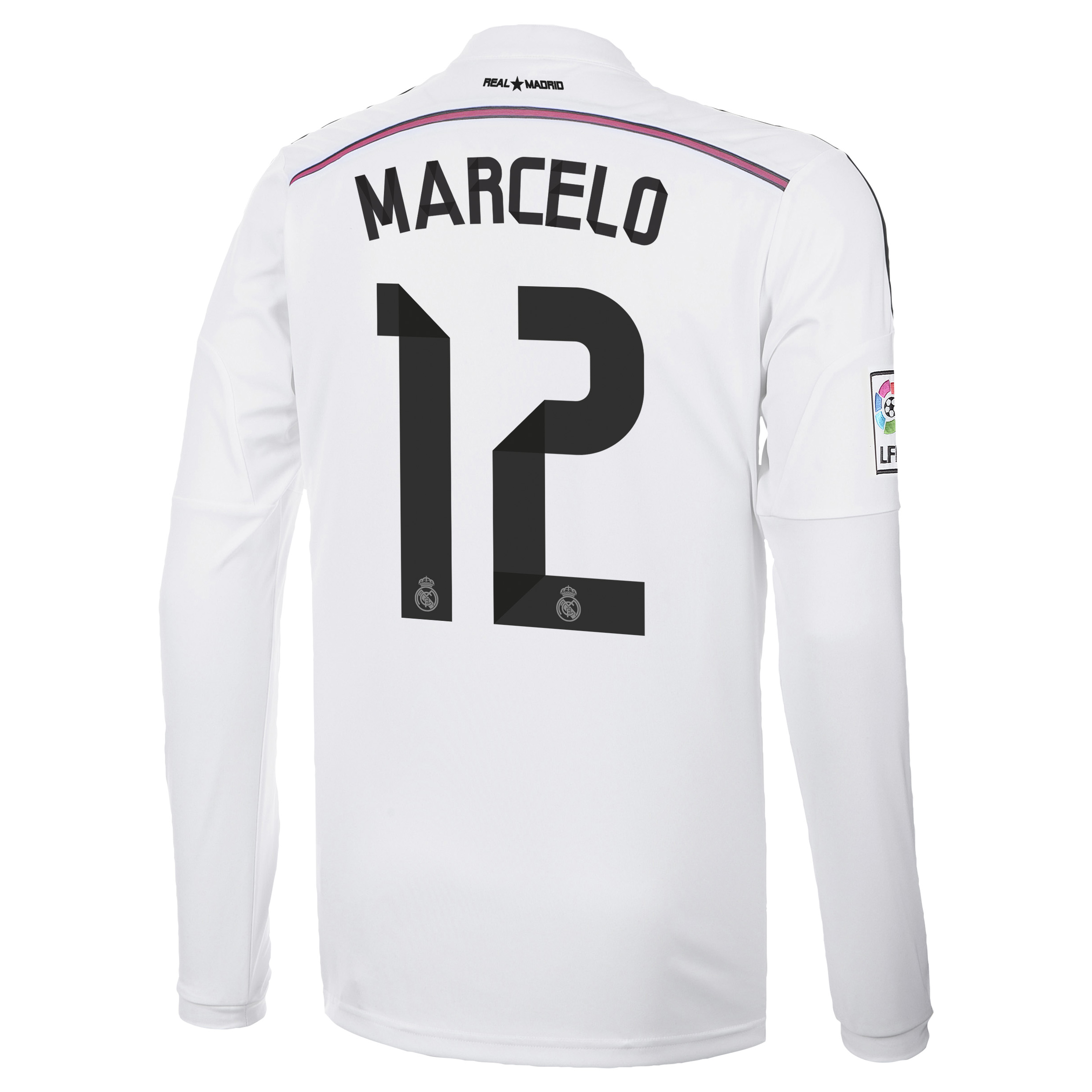Real Madrid Home Shirt 2014/15 Long Sleeve with Marcelo 12 printing